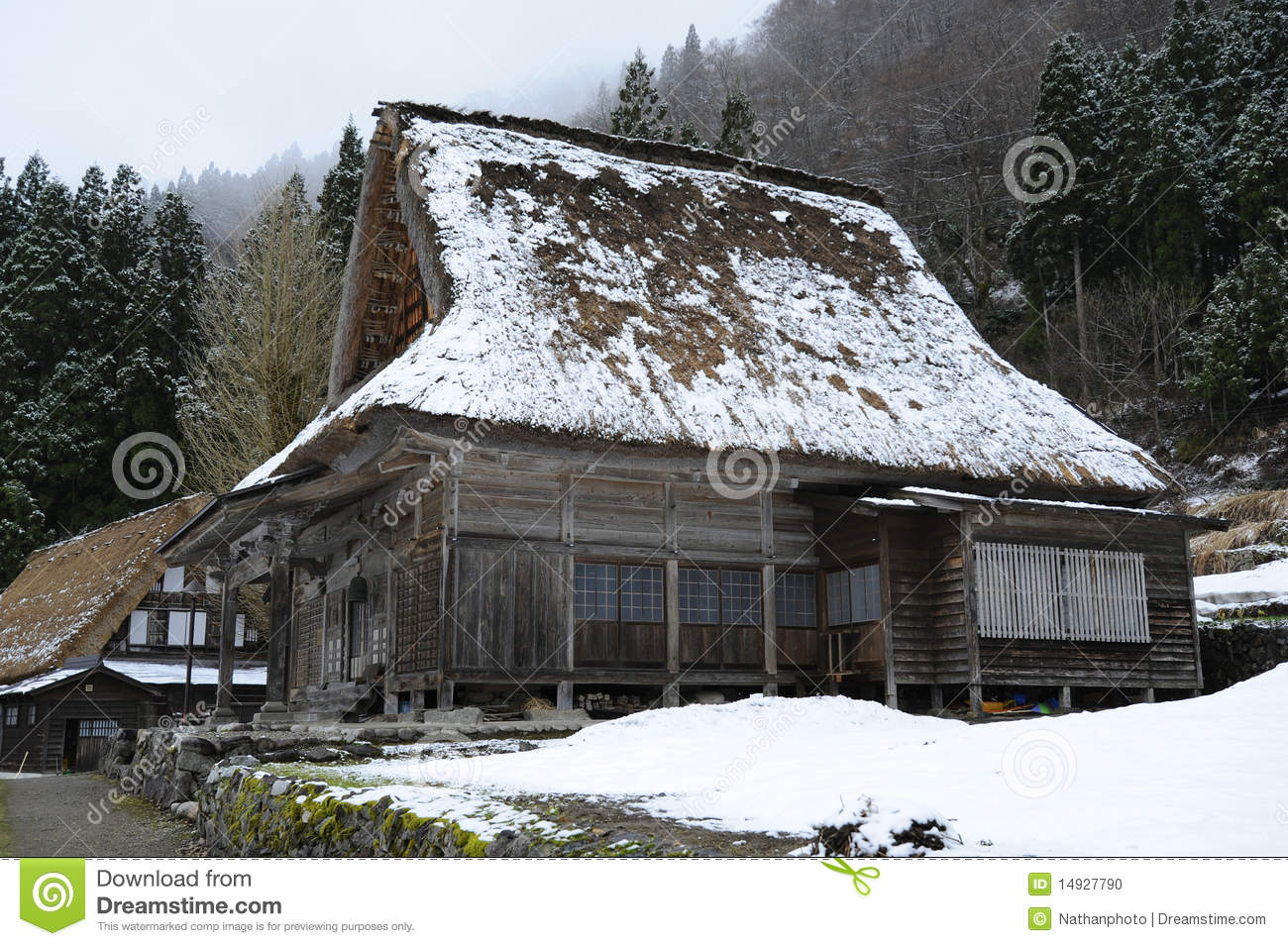 Traditional style japanese country house stock photo for Traditional country homes
