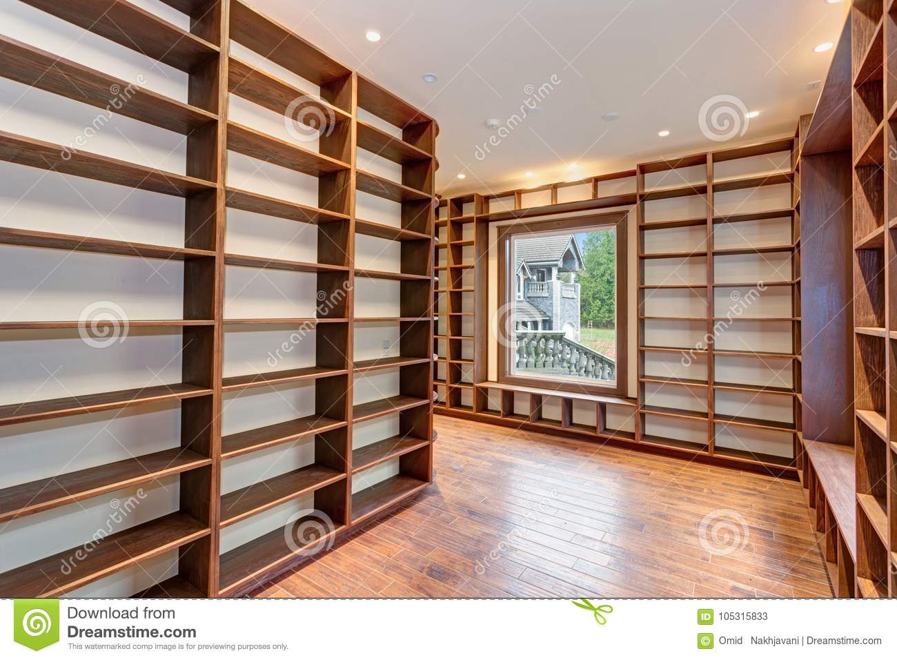 traditional style library with built in bookshelves - Library Built In Bookshelves
