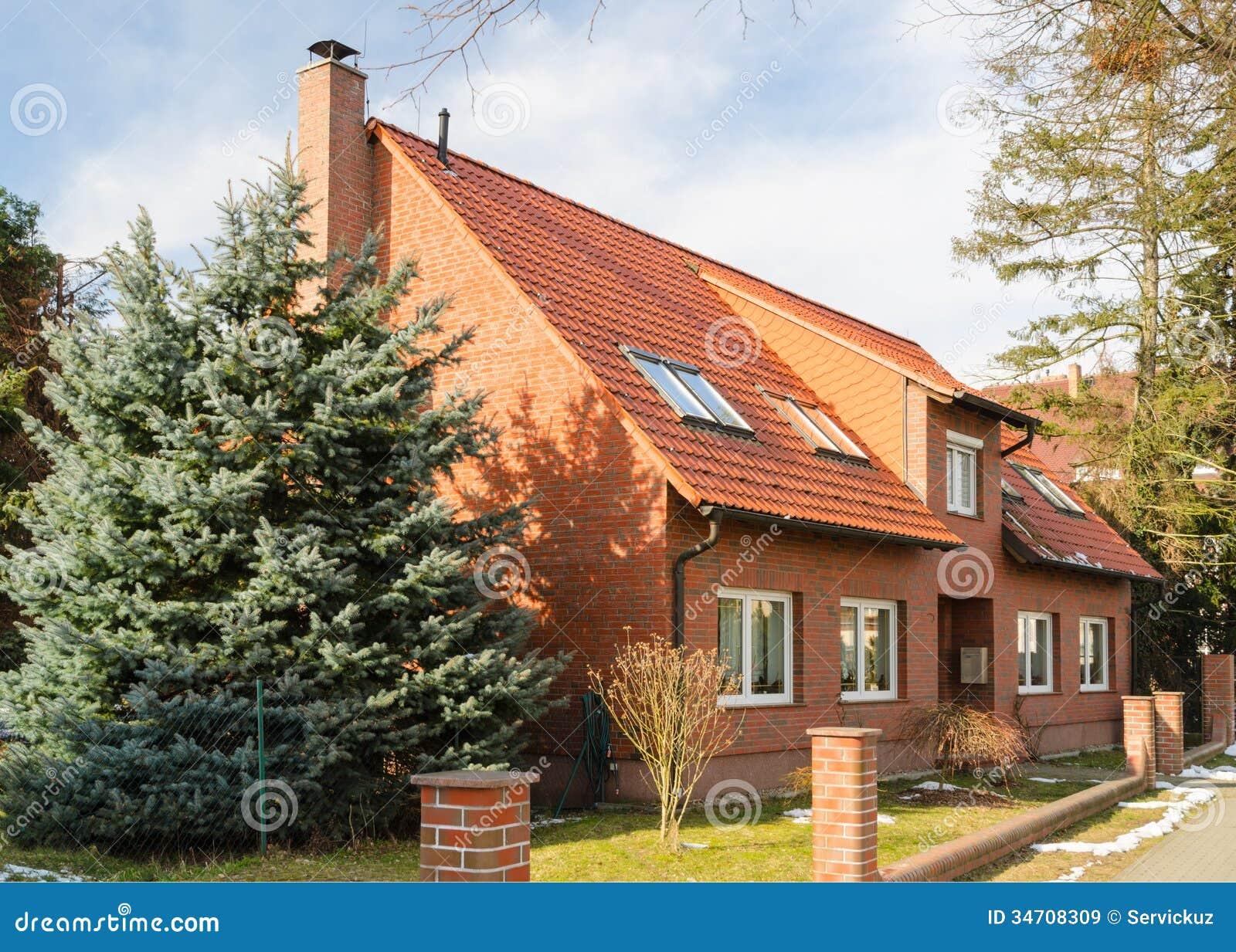 Traditional suburban european house royalty free stock for Europeanhome com