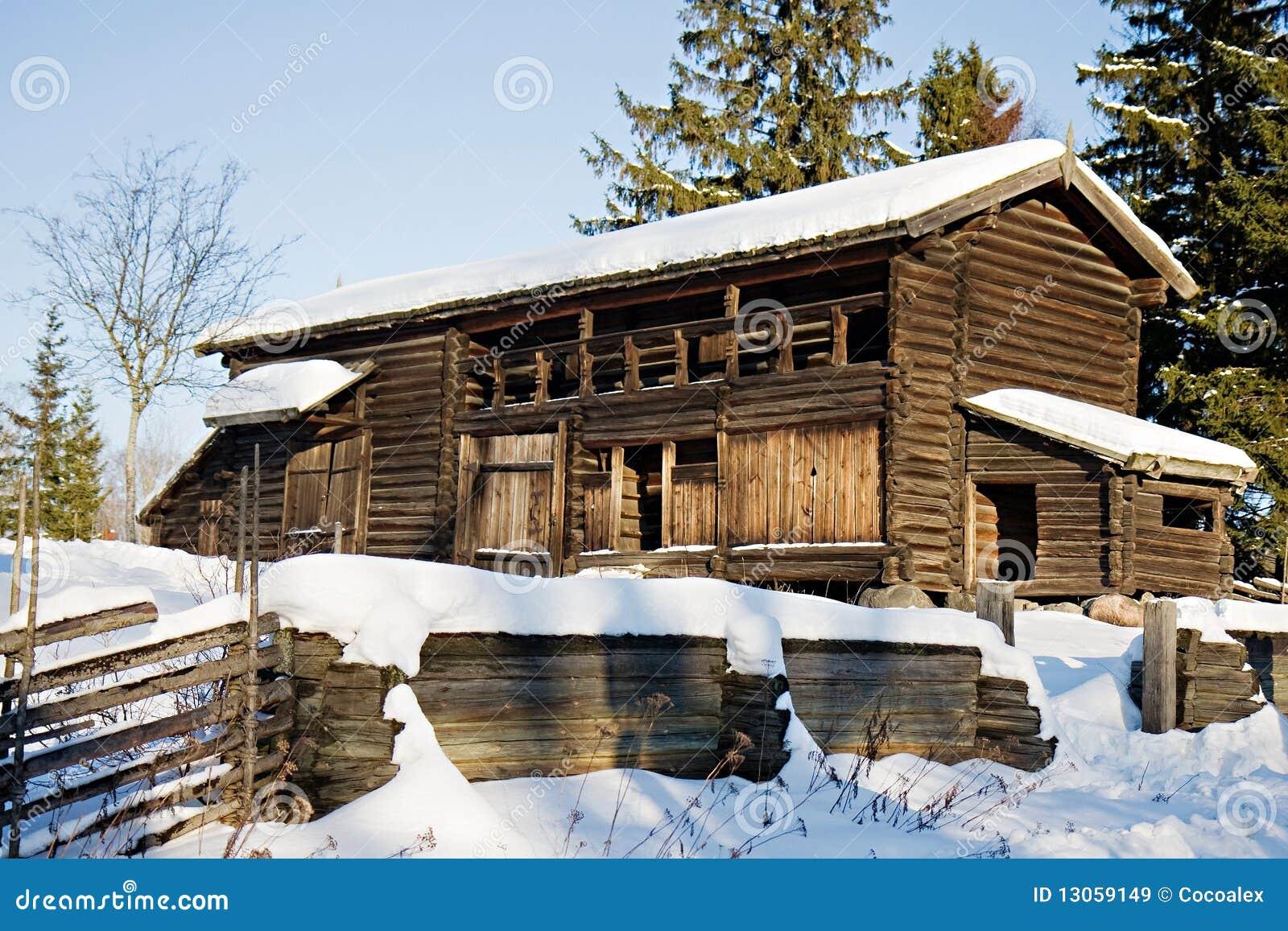 Traditional swedish house in skansen stockholm stock for Traditional swedish house plans