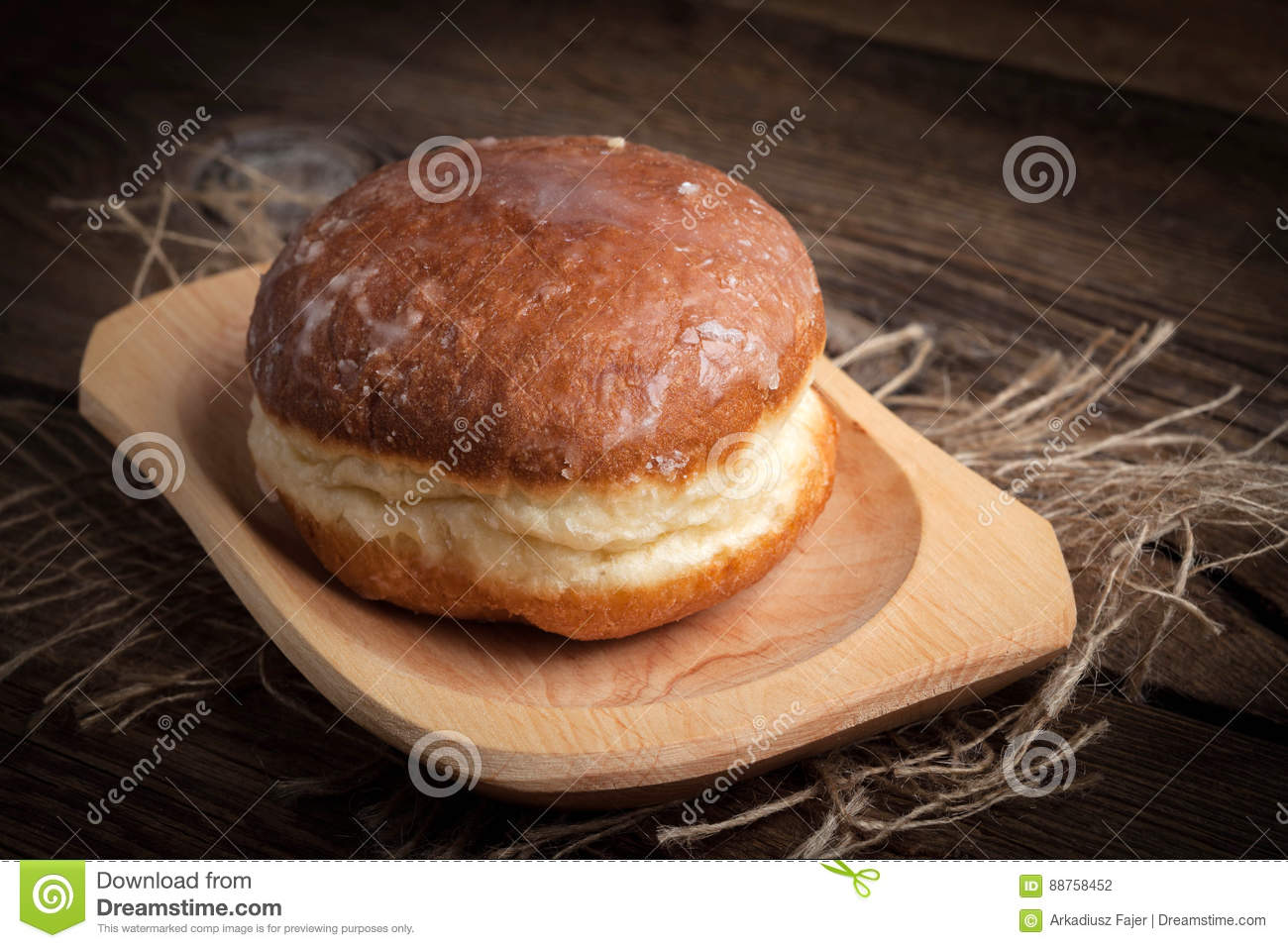 Traditional sweet donut.