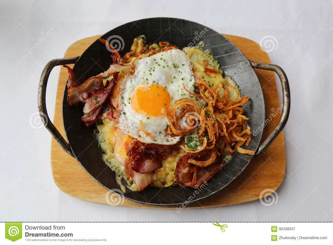 Traditional Swiss Dish Rosti Stock Photo - Image: 92438347