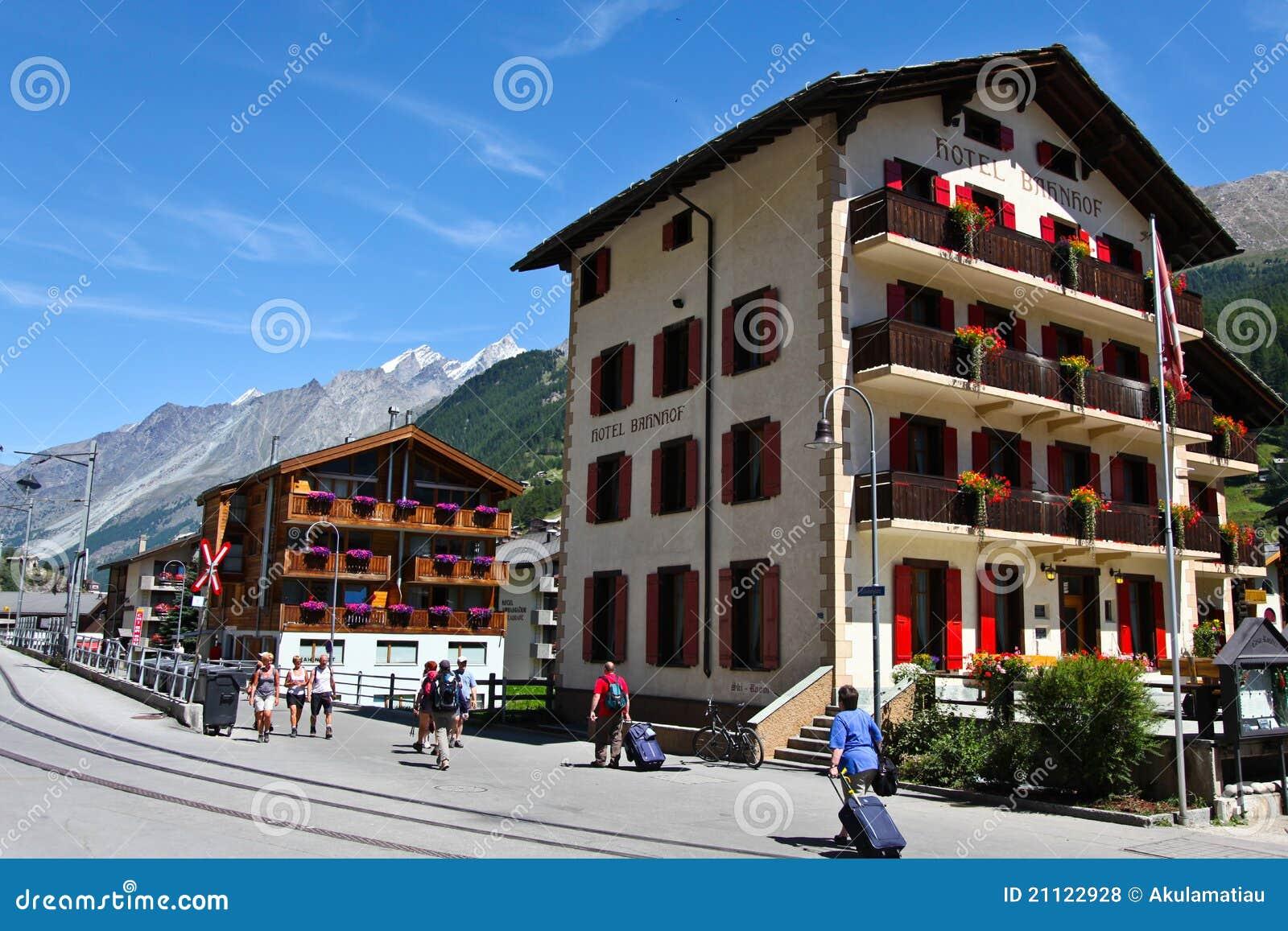 Traditional swiss hotels in zermatt switzerland editorial for Design hotel zermatt