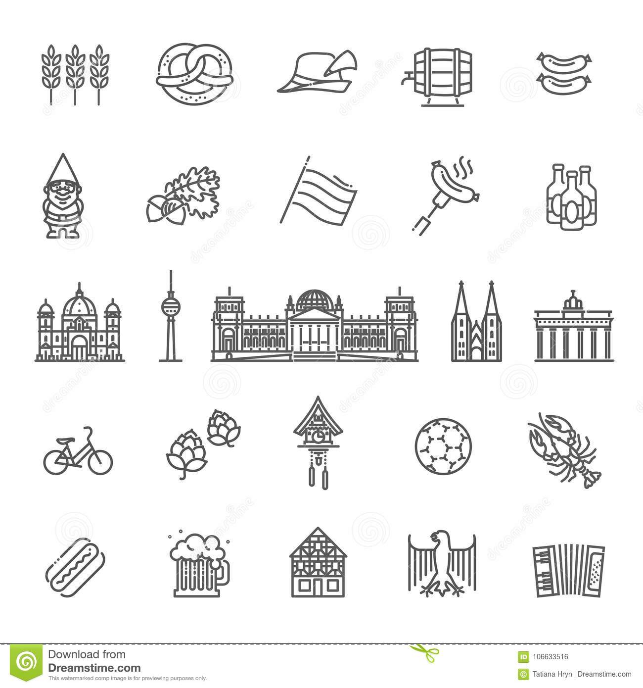 Traditional Symbols Of Culture Architecture And Cuisine Of Germany