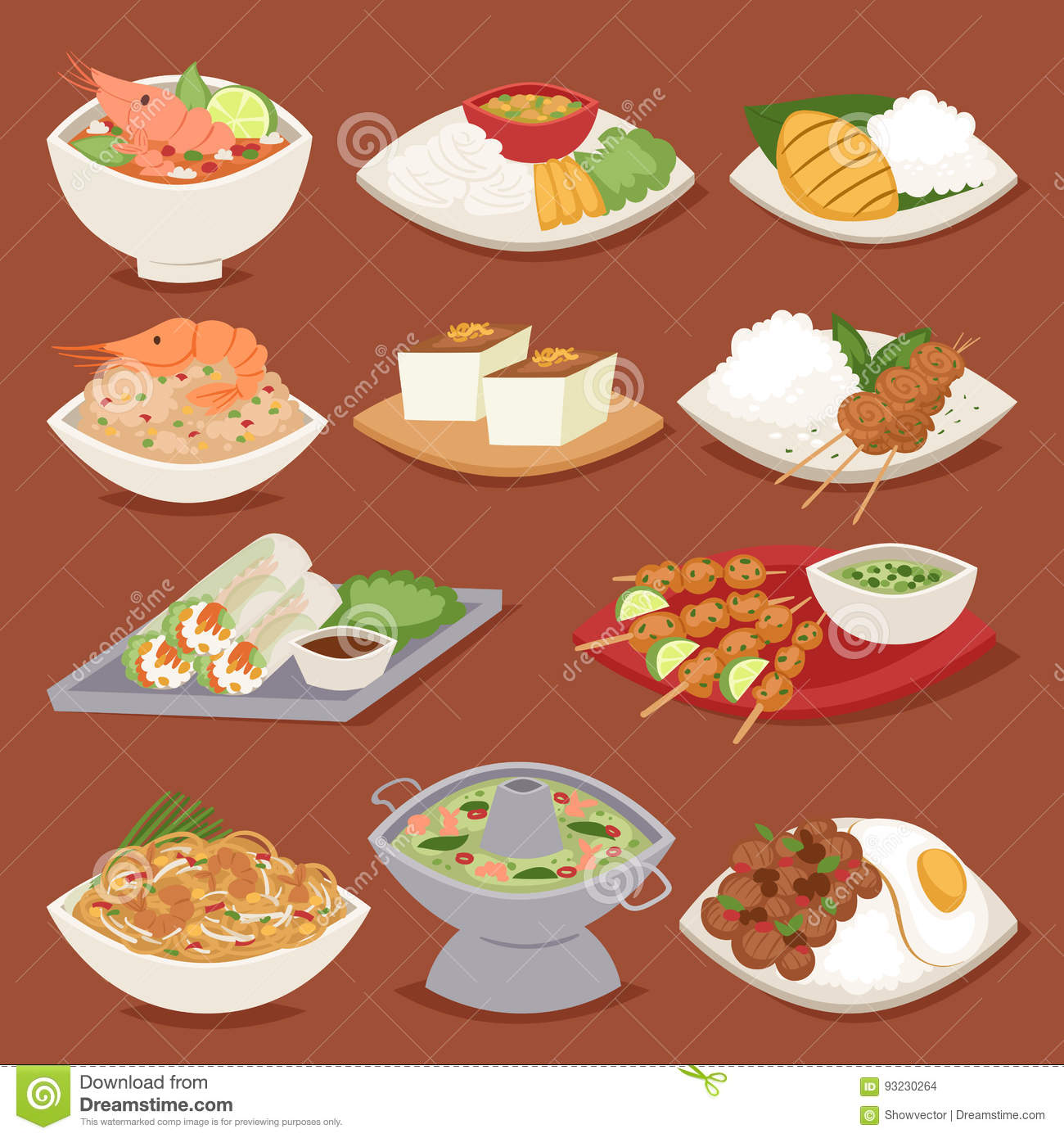 Traditional thai food asian plate cuisine thailand seafood for Abis japanese traditional cuisine