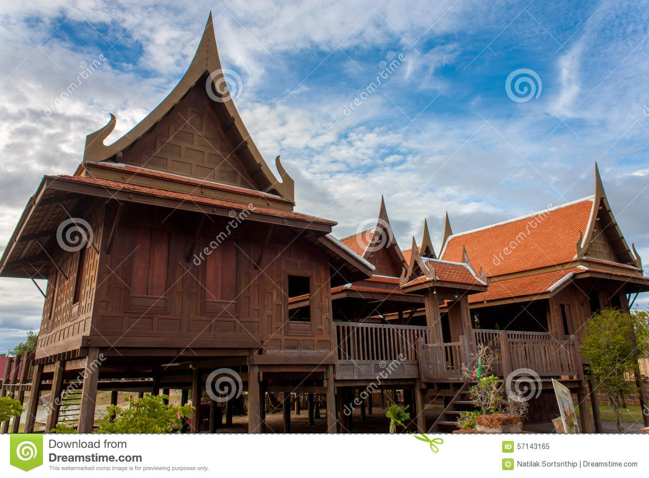 Traditional thai house classic style stock image image for Thai classic house
