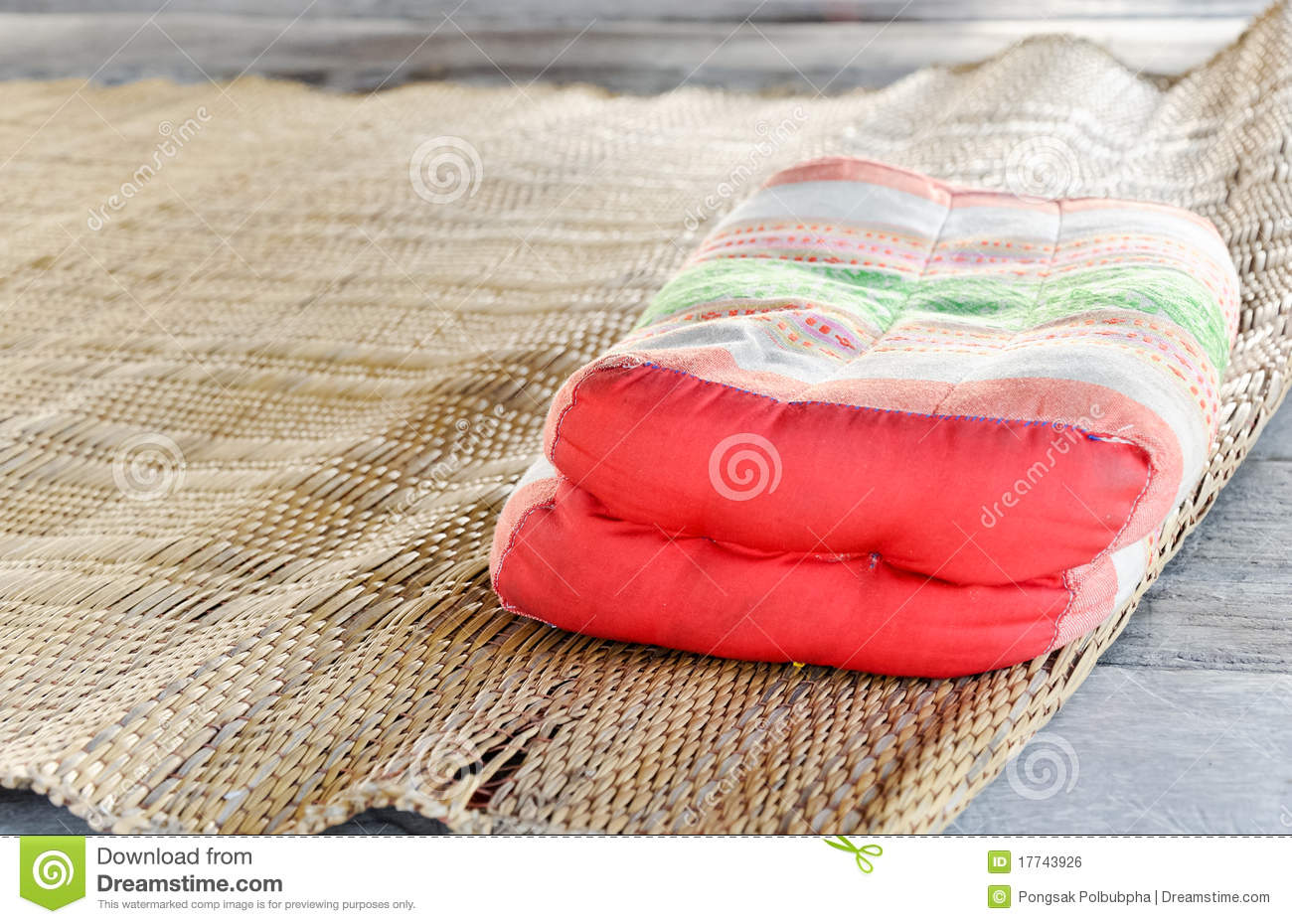 Traditional Thai Pillow : Traditional Thai Pillow Royalty Free Stock Image - Image: 17743926