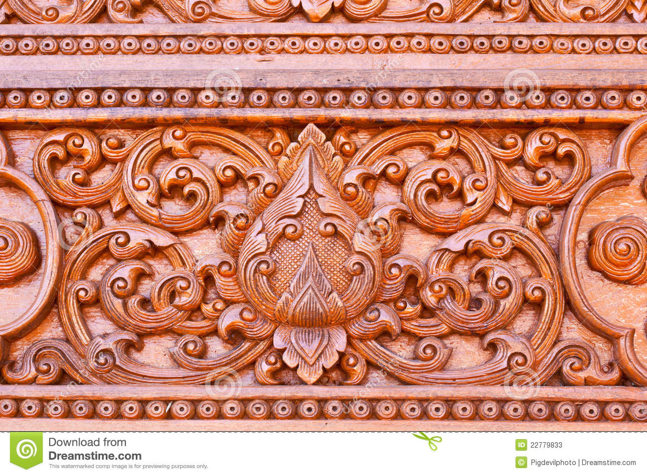 Traditional Thai Style Wood Carving Royalty Free Stock Images ...