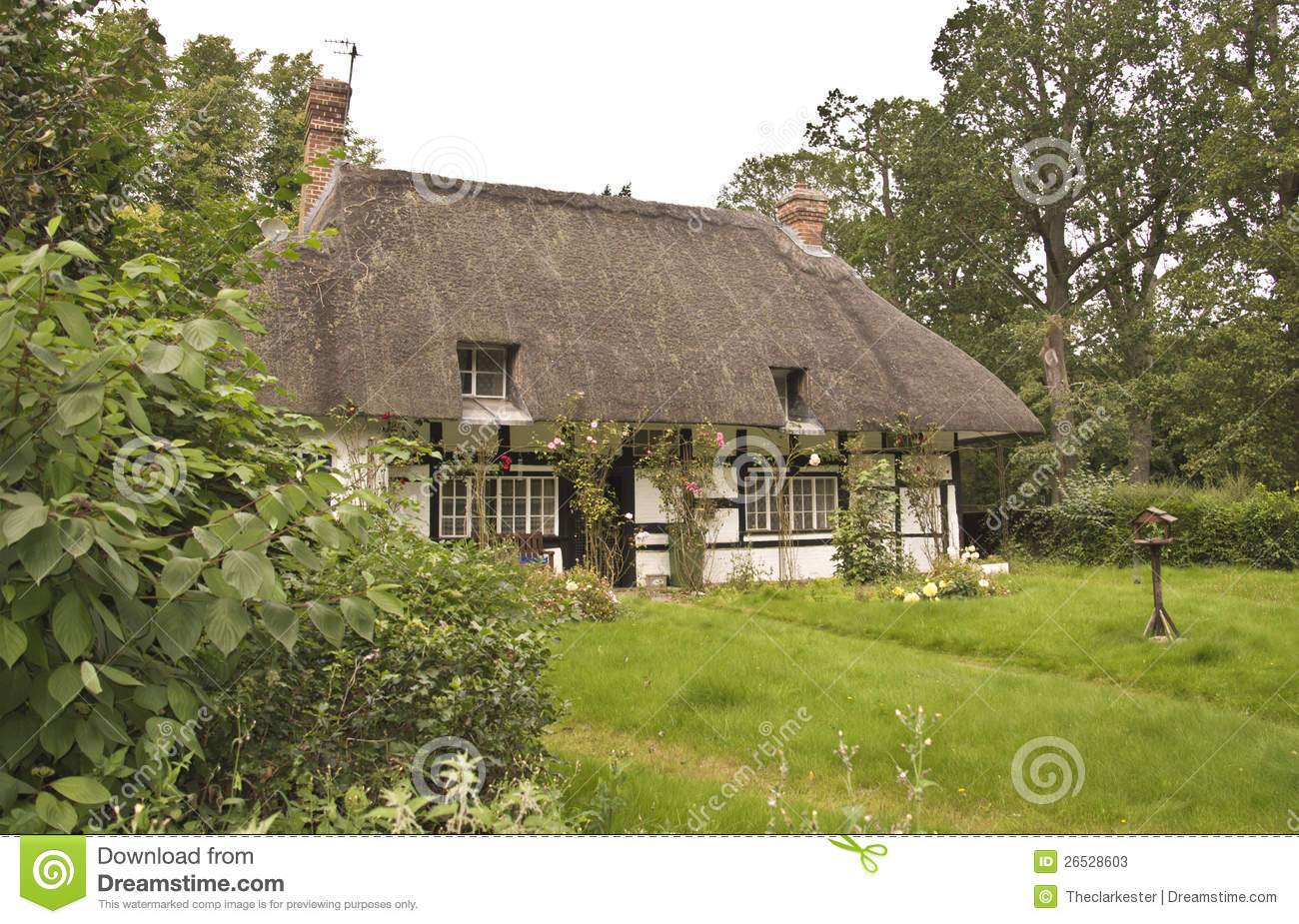 Stock photos traditional thatched roof cottage