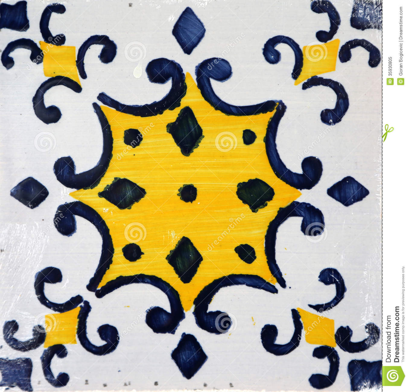 Traditional Tiles From Porto Portugal Stock Photo