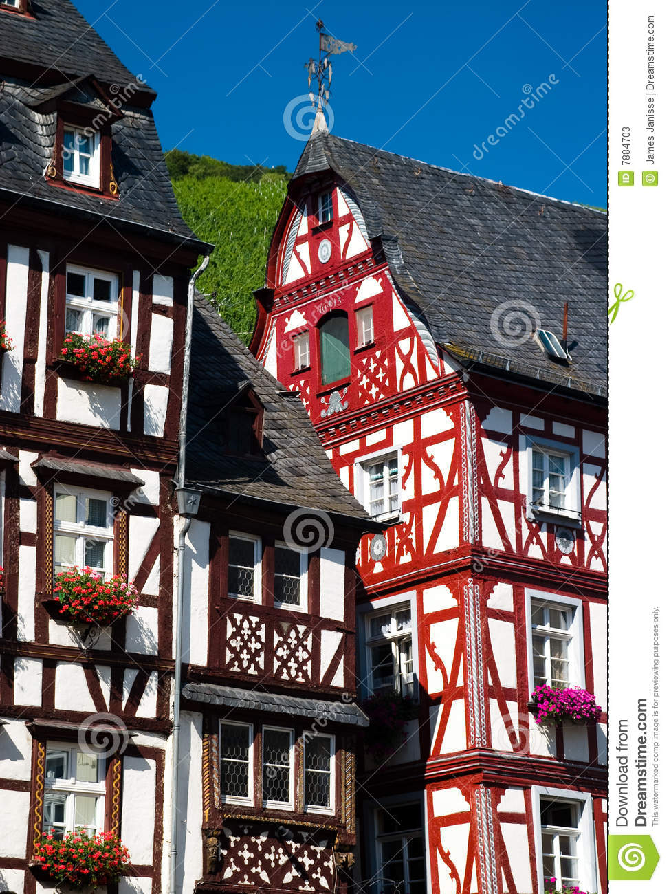 Traditional timber houses in Mosel Valley Germany