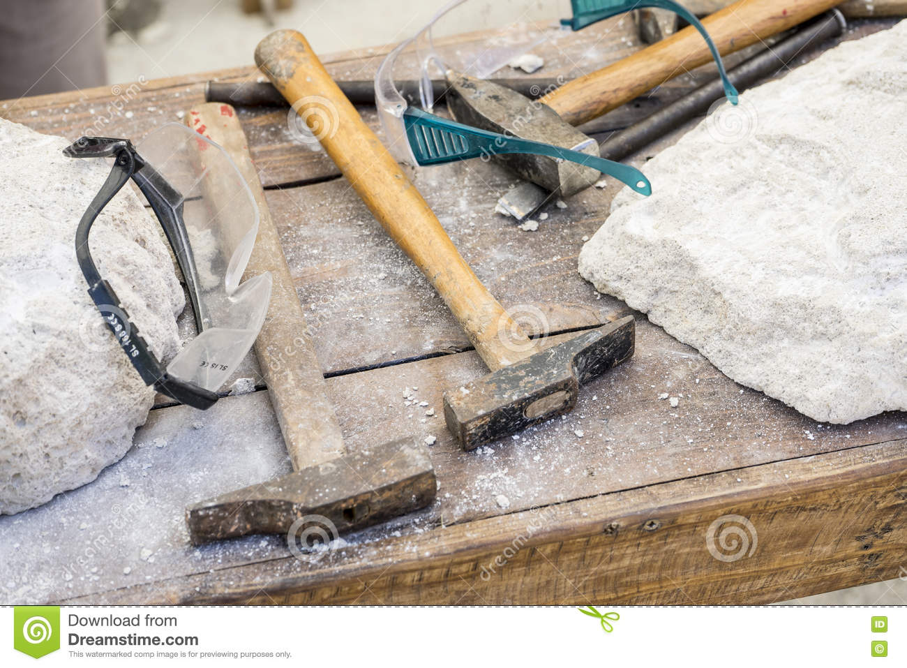 Traditional Tools Sculptor, Wood, Hammers And Chisels For ...