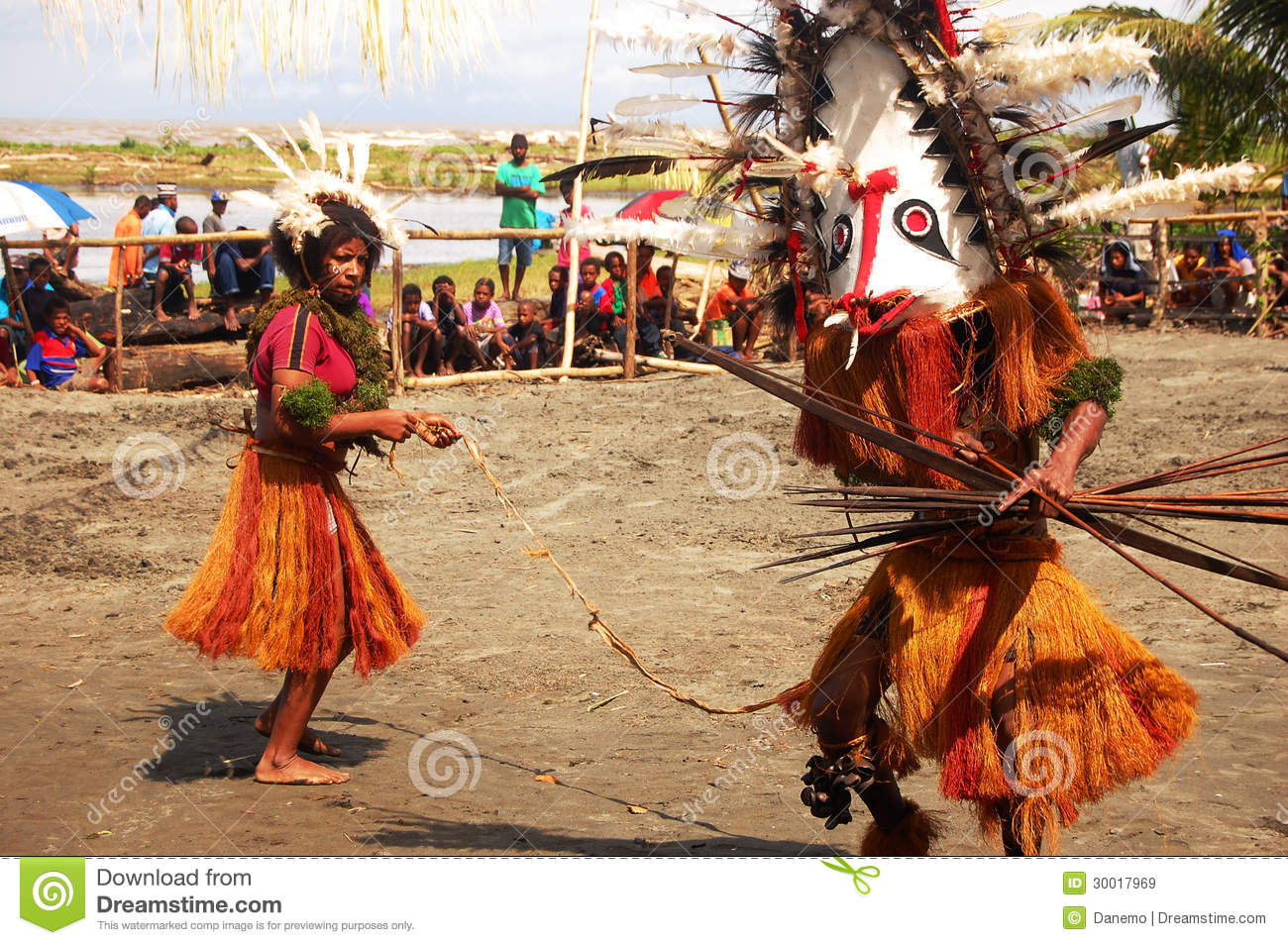 Traditional dance mask festival