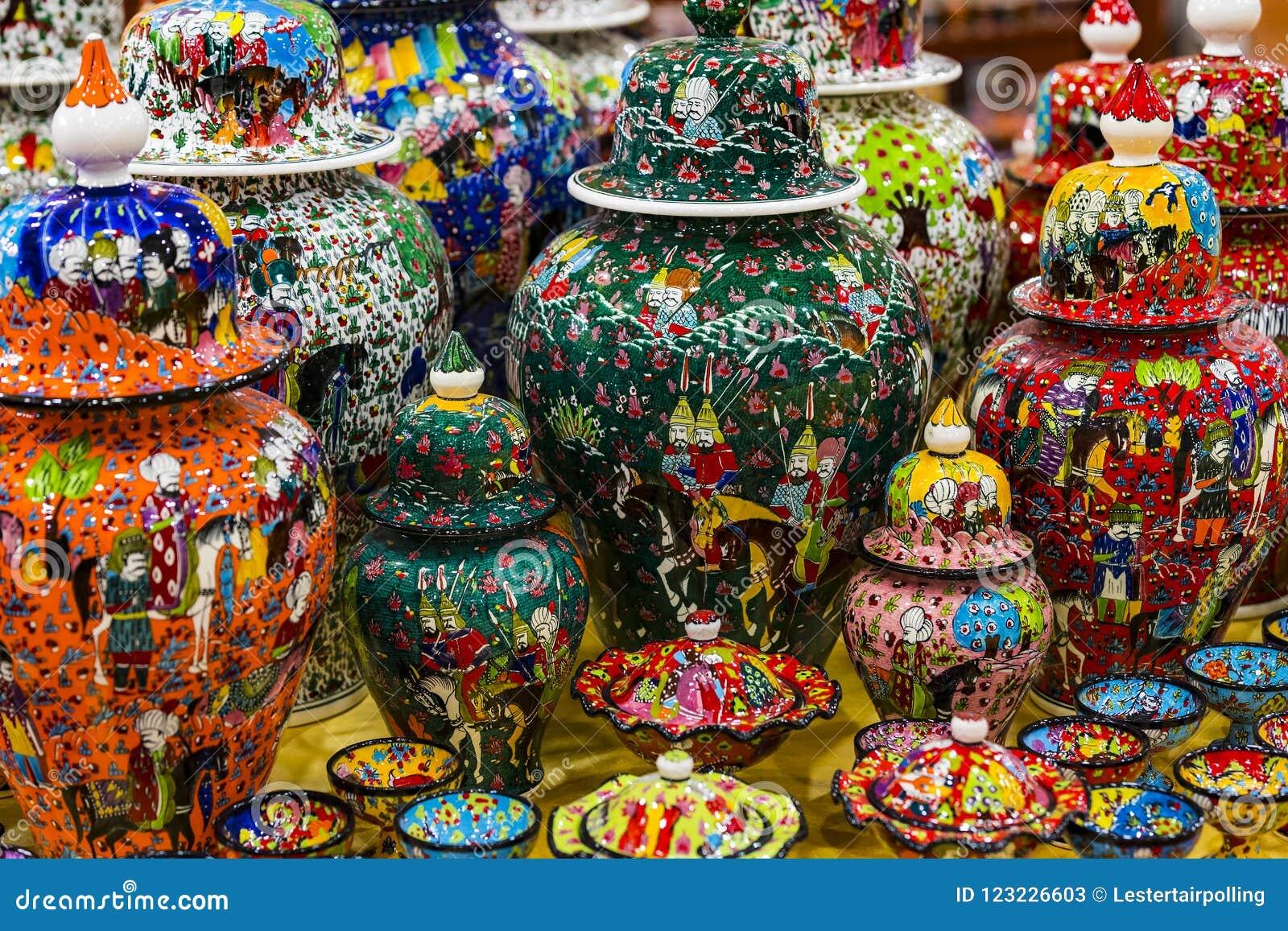 Traditional Turkish Decorative Ceramics Stock Image ...