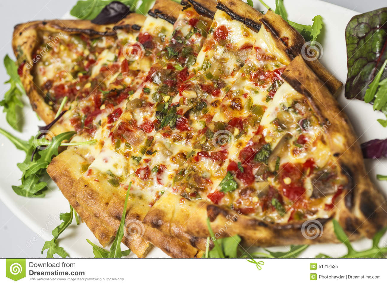 Traditional Turkish Food Pide Stock Image Image Of Dine