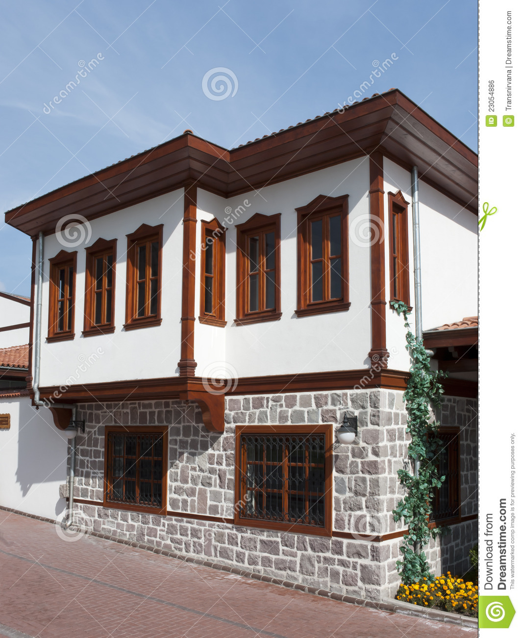 Traditional turkish house stock photo image of anatolia for Maison traditionnelle turque