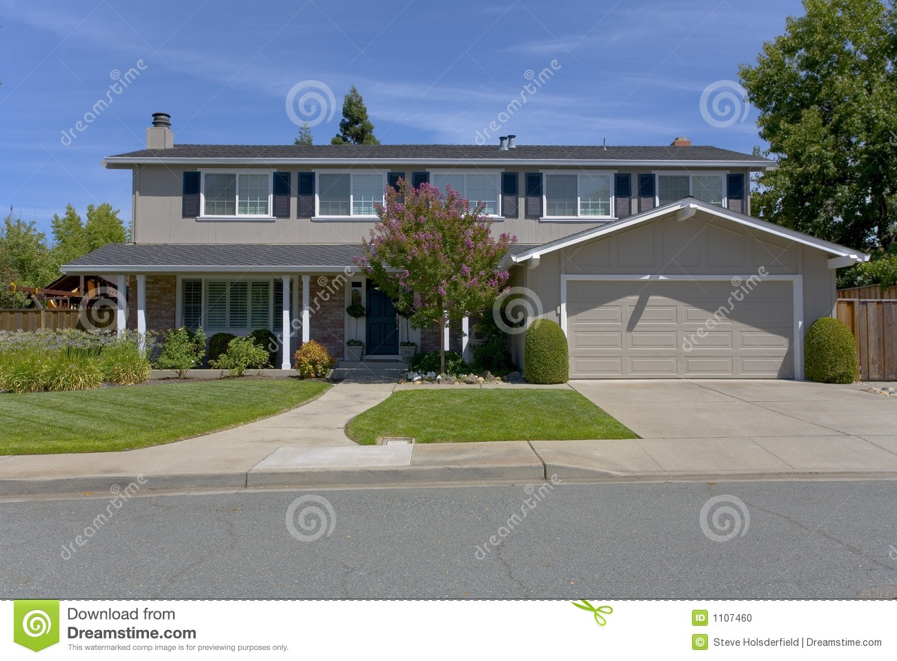 Traditional two story home stock photo image 1107460 for Traditional 2 story house