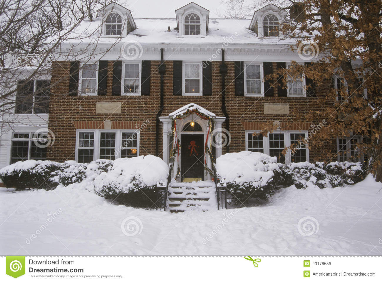 Traditional two story home royalty free stock images for Traditional 2 story house