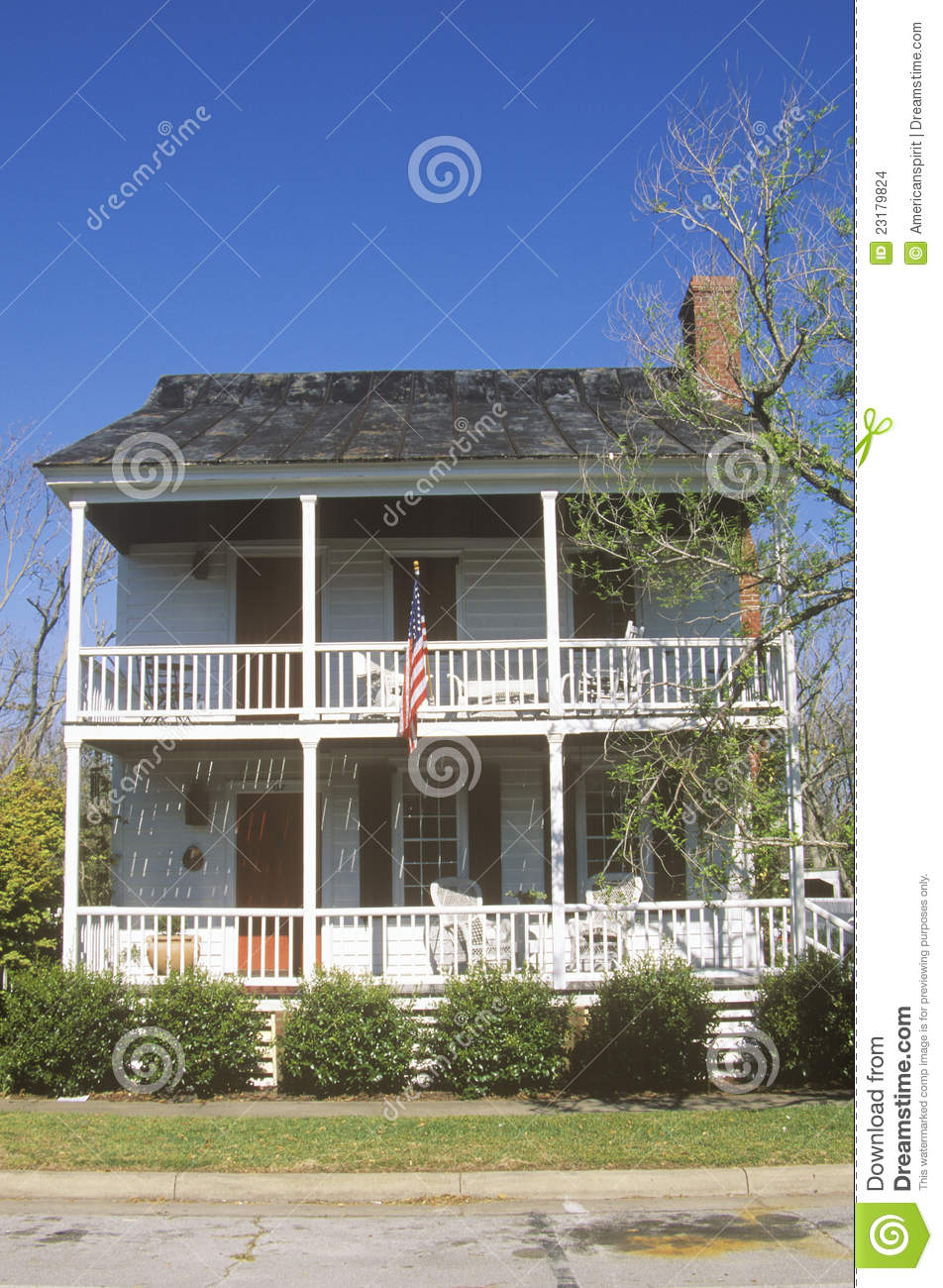 Traditional two story home stock images image 23179824 for Traditional 2 story house