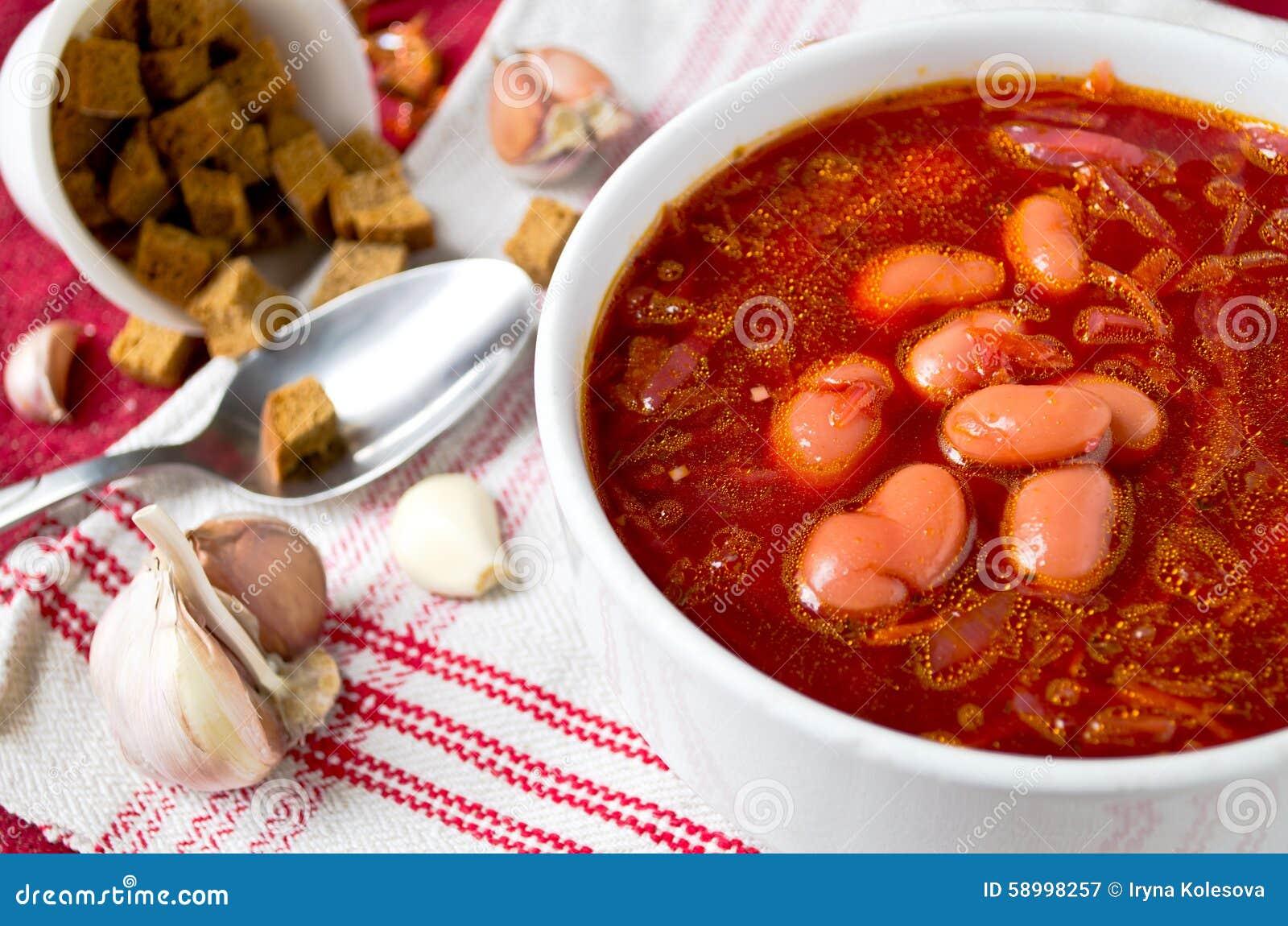 Ukrainian Red Borscht Soup Recipe — Dishmaps
