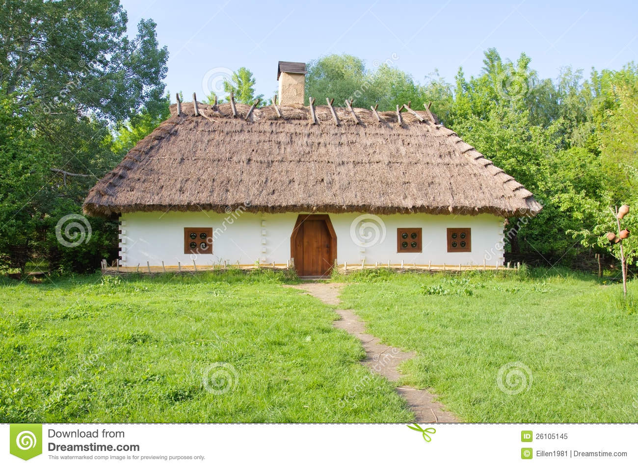 Traditional Ukrainian Rural House Stock Image Image Of