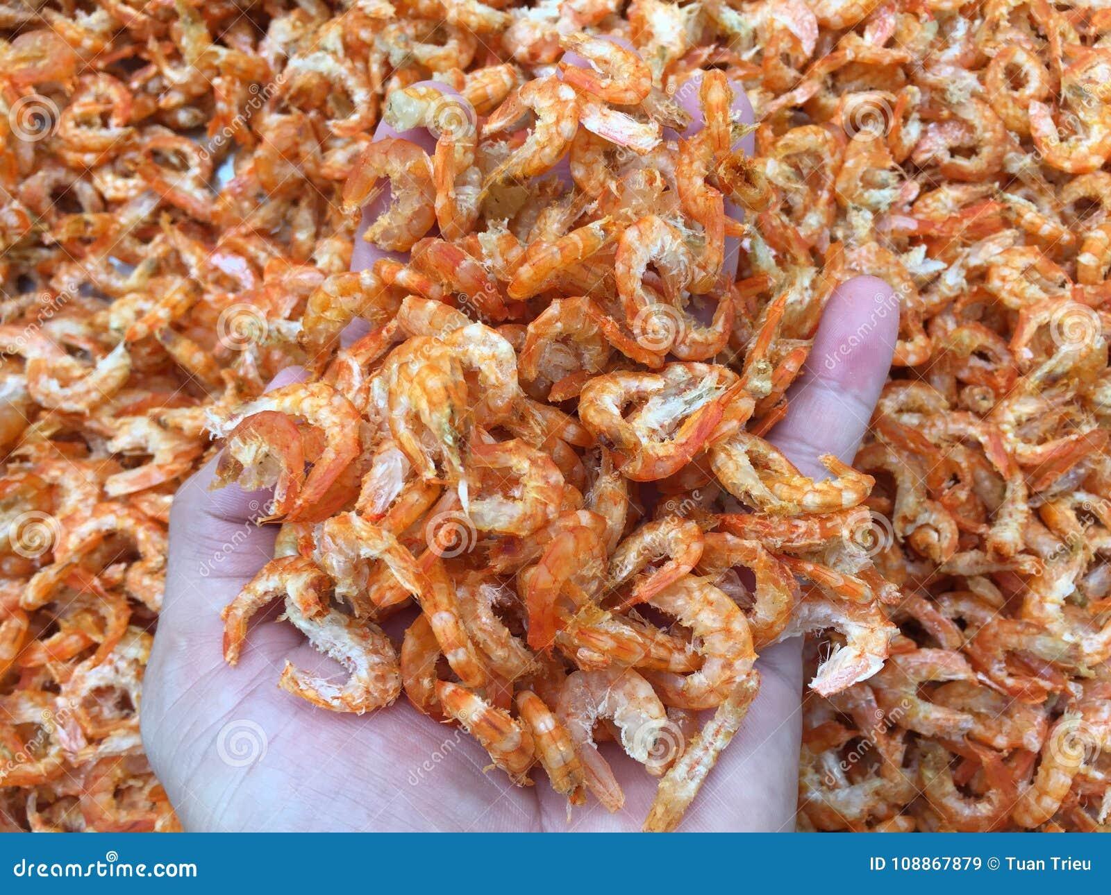 Traditional Vietnamese cuisine: dried shrimp