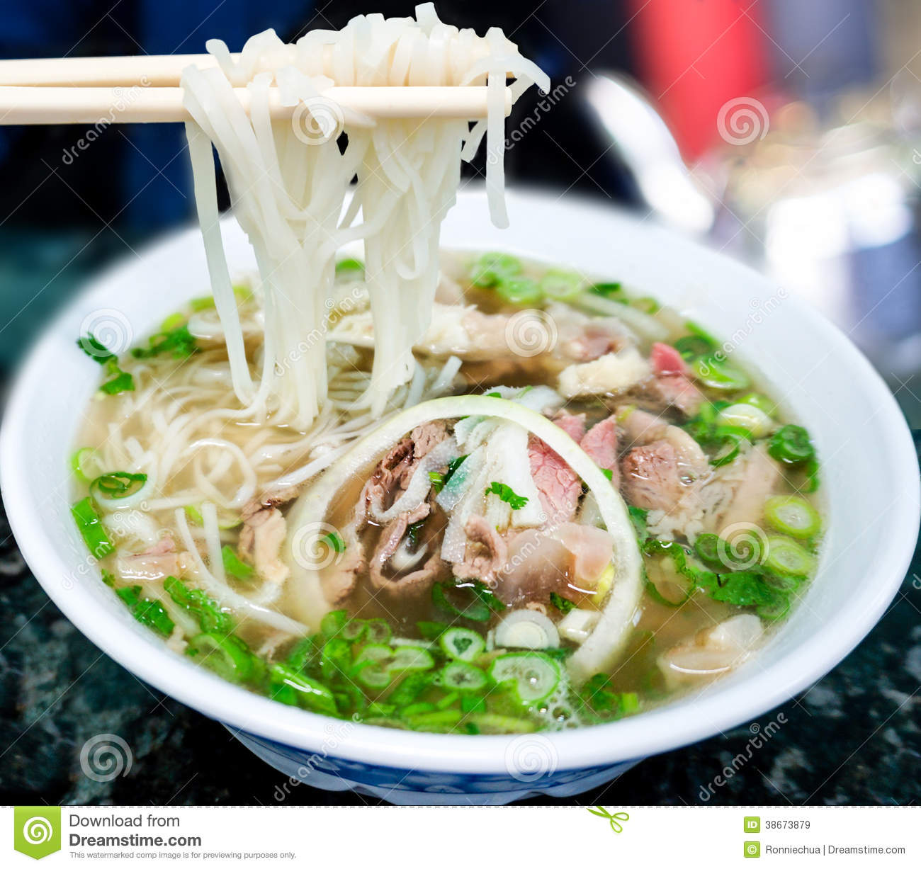 Traditional Vietnamese Pho Beef Noodle Soup Royalty Free Stock Images ...