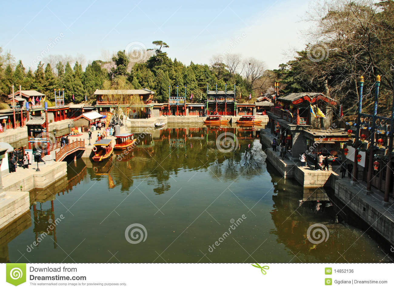 Traditional view in summer palace China