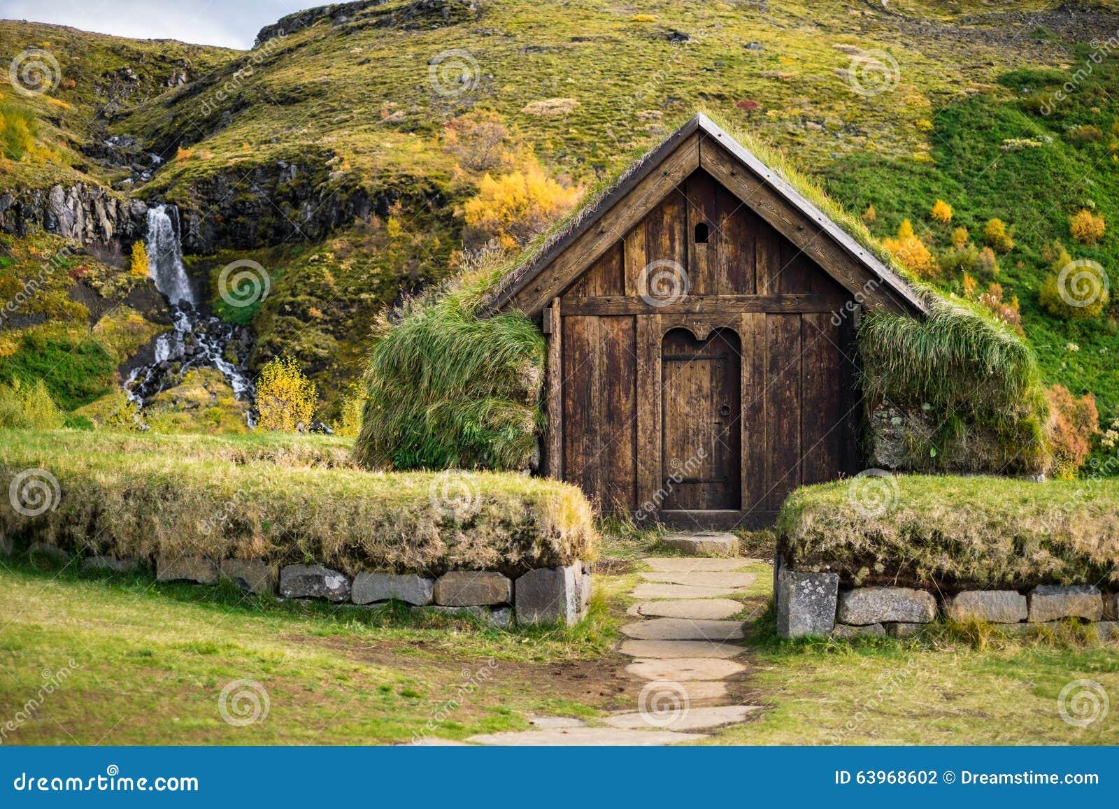 Traditional Viking House Stock Photo Image 63968602