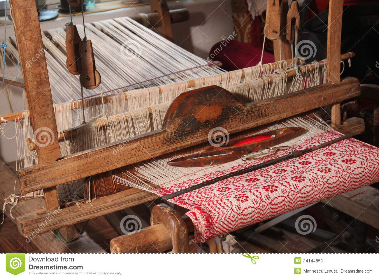 Traditional Weaving Loom Stock Image Image Of Homemade