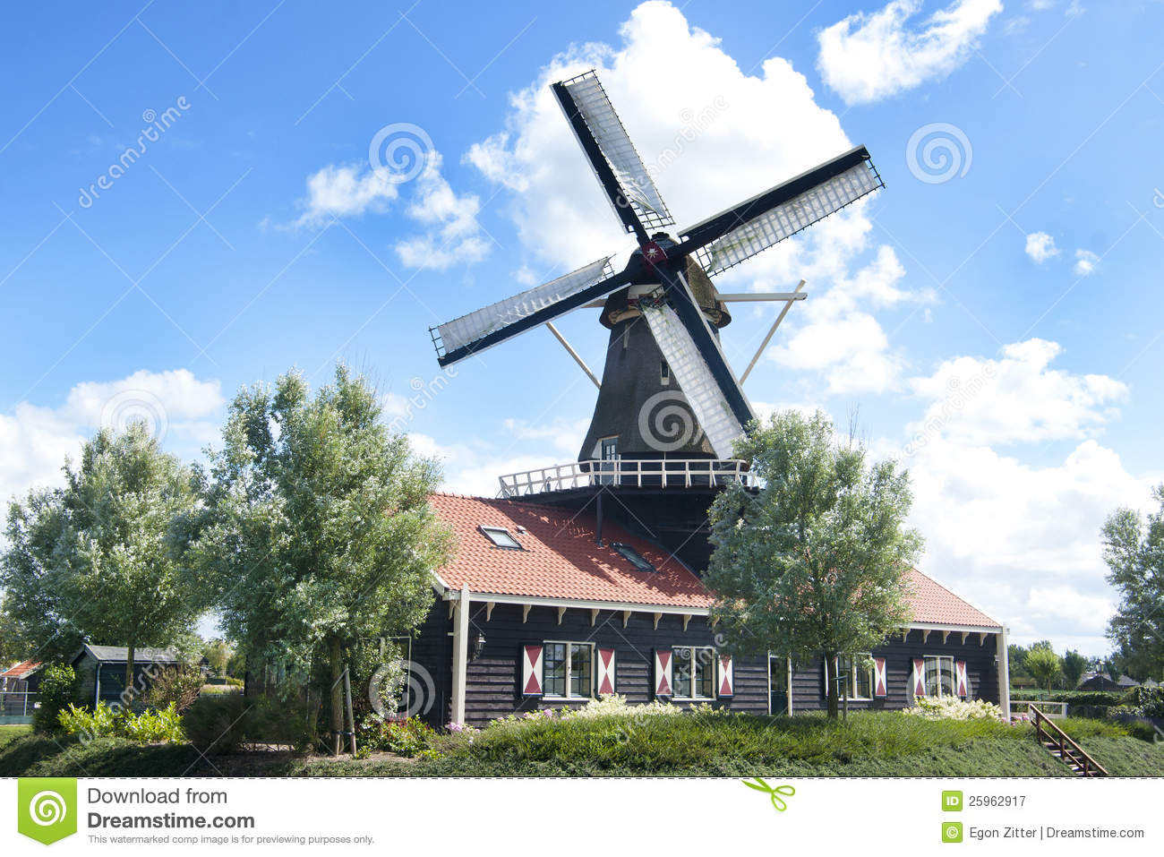 Traditional Windmill House Royalty Free Stock Photography - Image ...