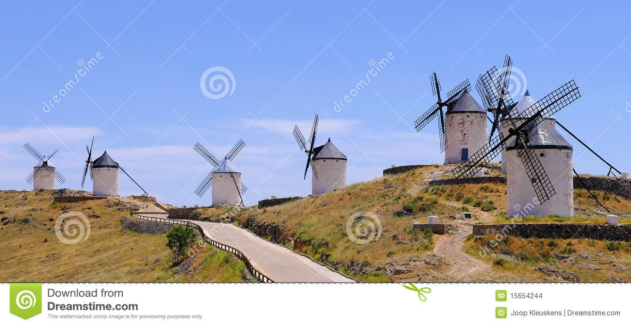 Traditional windmills, Consuegra spain
