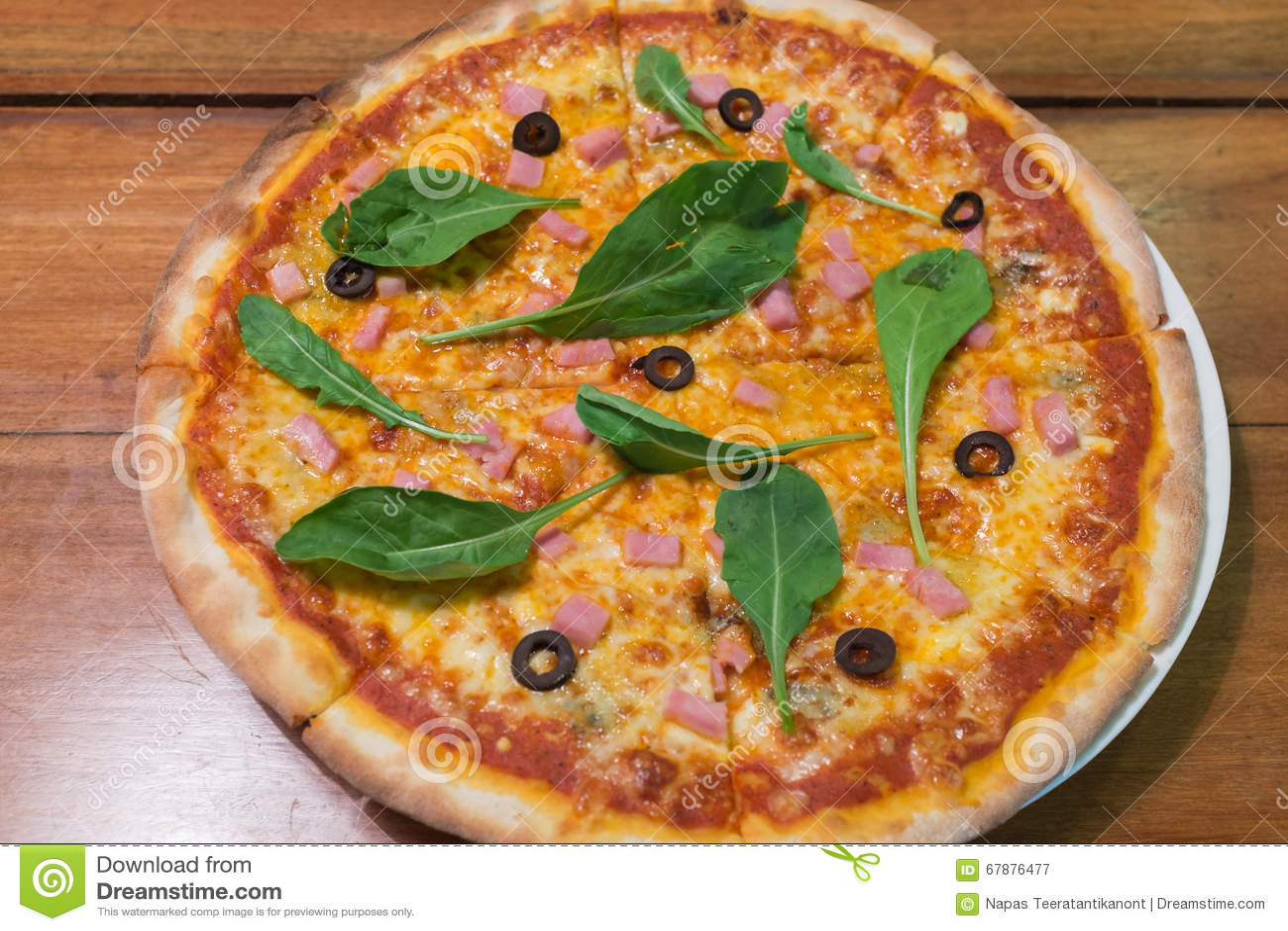 Traditional wood burn Italian pizza