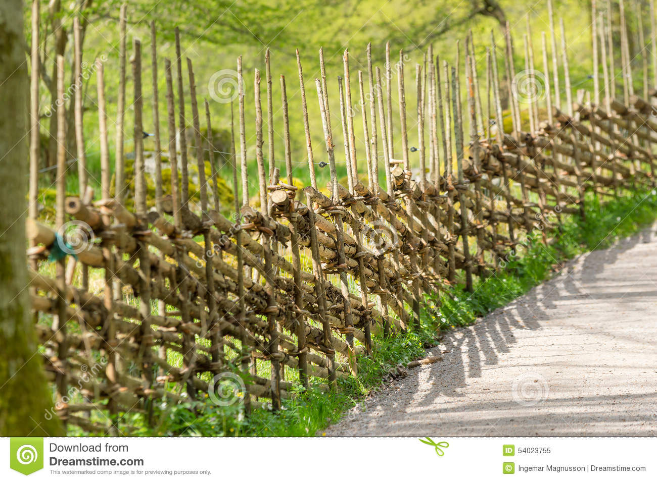 Traditional Wooden Fence Stock Photo - Image: 54023755