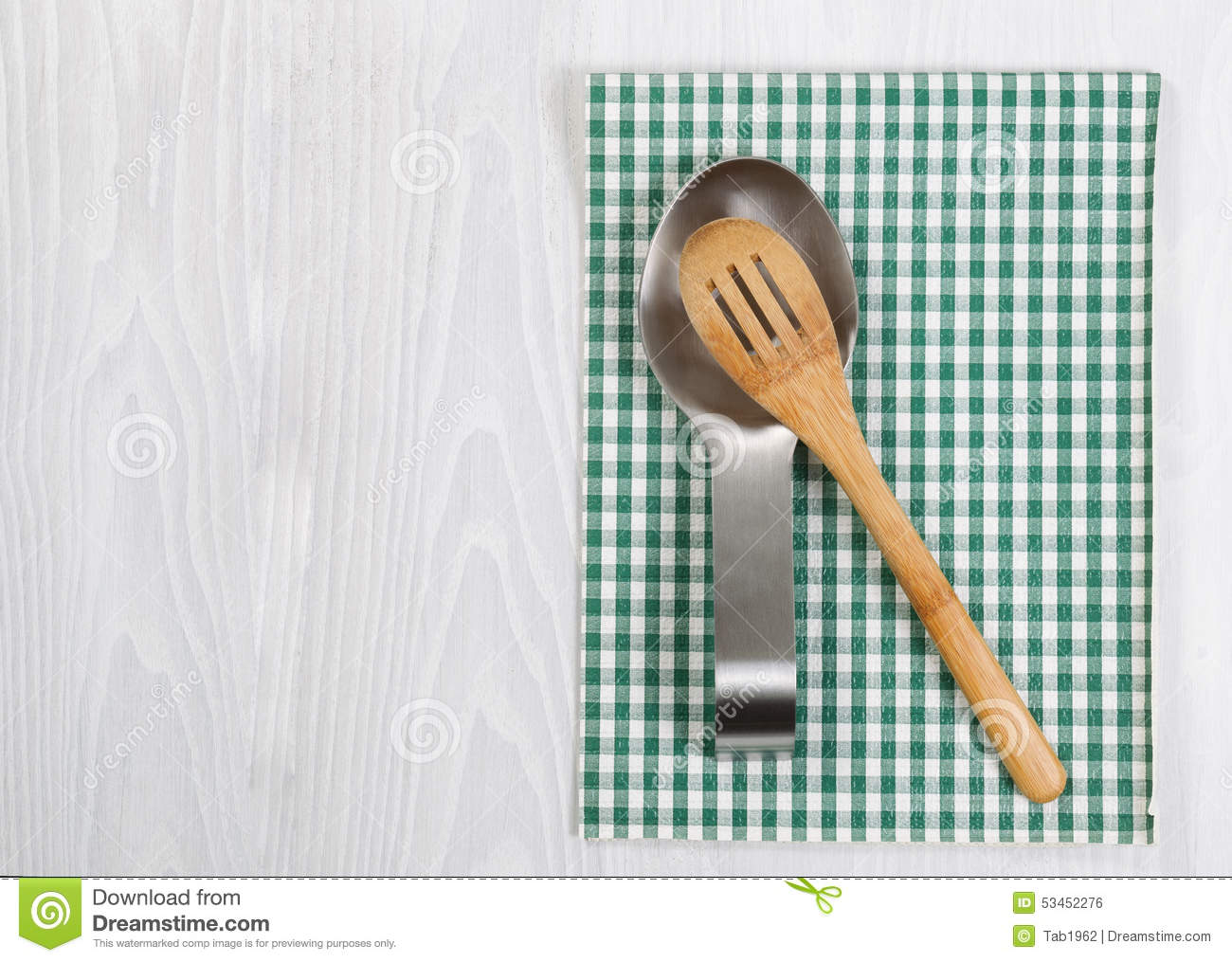 Traditional Wooden Spoon And Spoon Holder Stock Photo - Image of ...