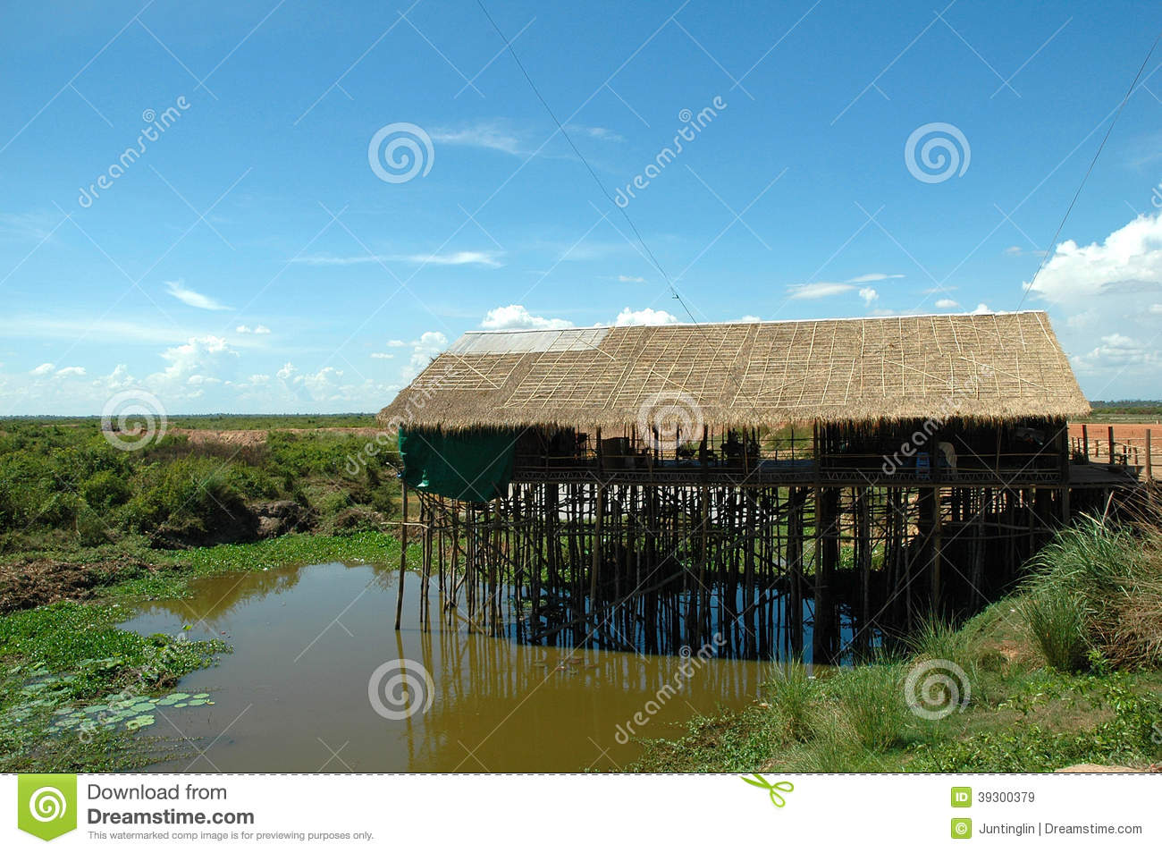 A traditional wooden thatch house on water stock photo image 39300379 - Household water treatment a traditional approach ...