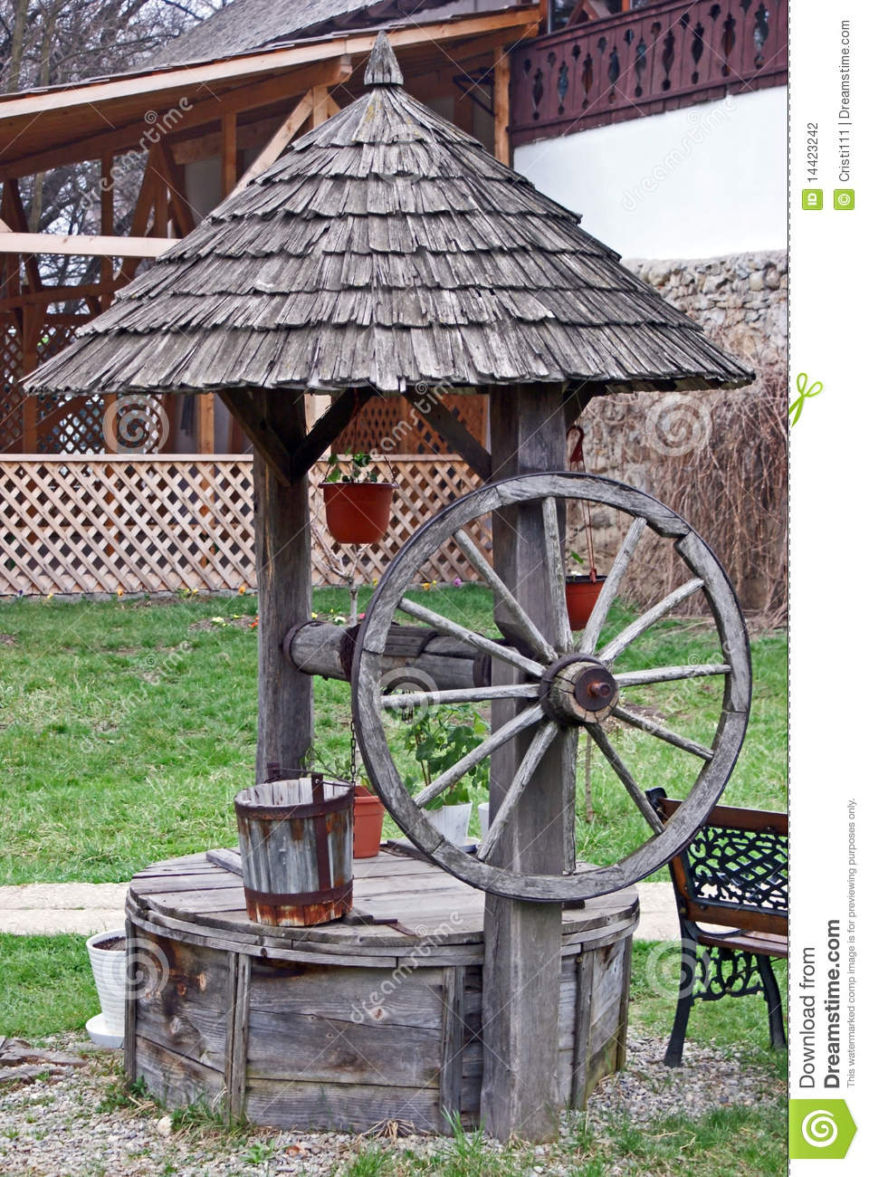 Traditional wooden water well stock photo image 14423242 for Traditional photos