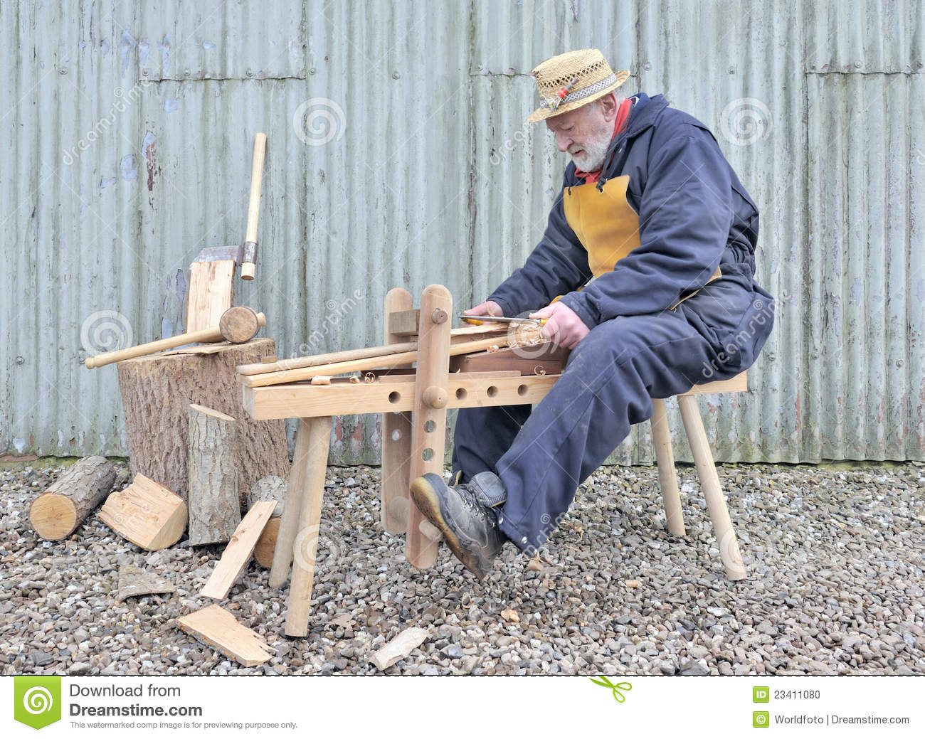 Traditional Woodworker Stock Photo Image Of Woodworking 23411080