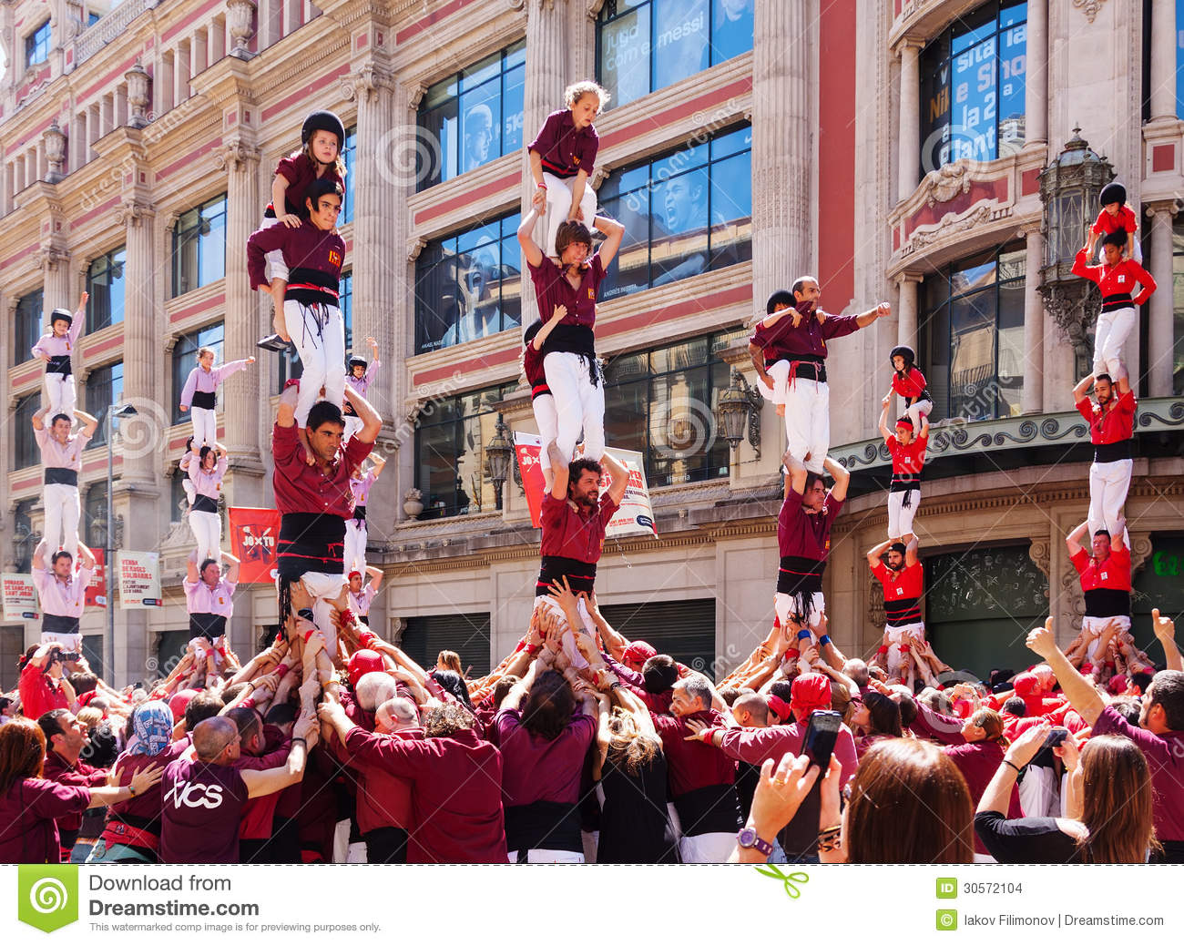 Traditionally Catalan show editorial stock image  Image of