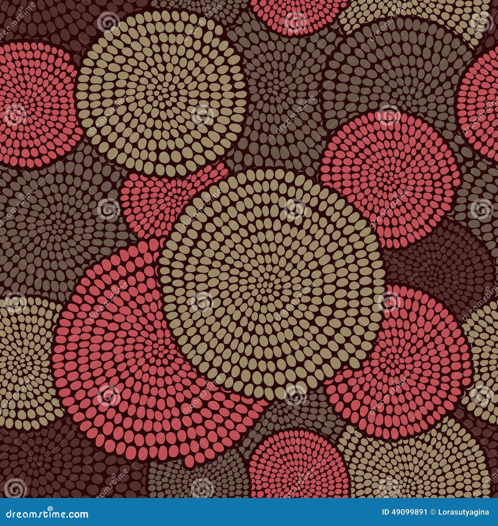 Traditioneel Afrikaans Ornament met wervelingen Naadloos vectorgeklets
