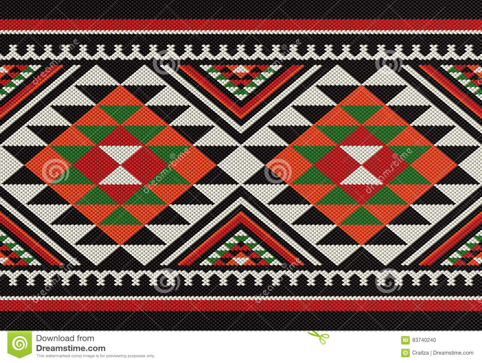 Traditioneel Arabisch de Hand Wevend Patroon van Diamanten Volkssadu