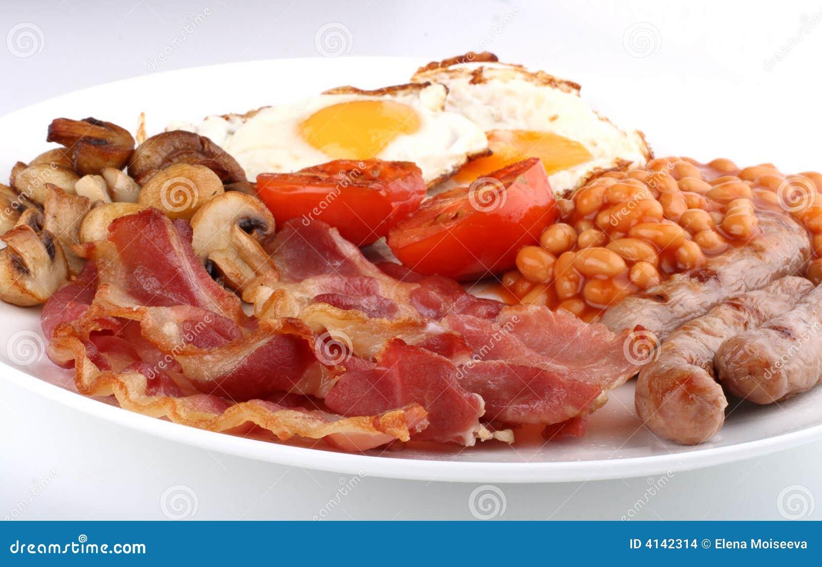 Traditioneel engels ontbijt stock afbeeldingen   afbeelding: 4142314