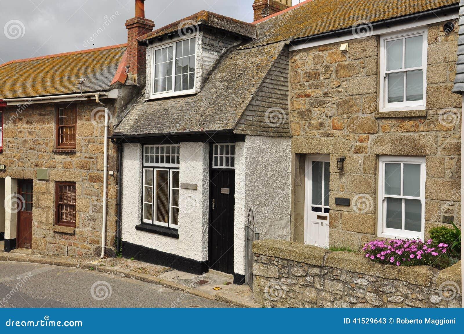 Traditioneel Engels plattelandshuisje St Ives Cornwall, Engeland, het UK