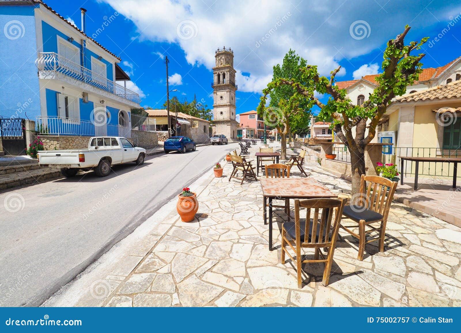 Traditioneel Grieks Dorp op het Eiland Zakynthos