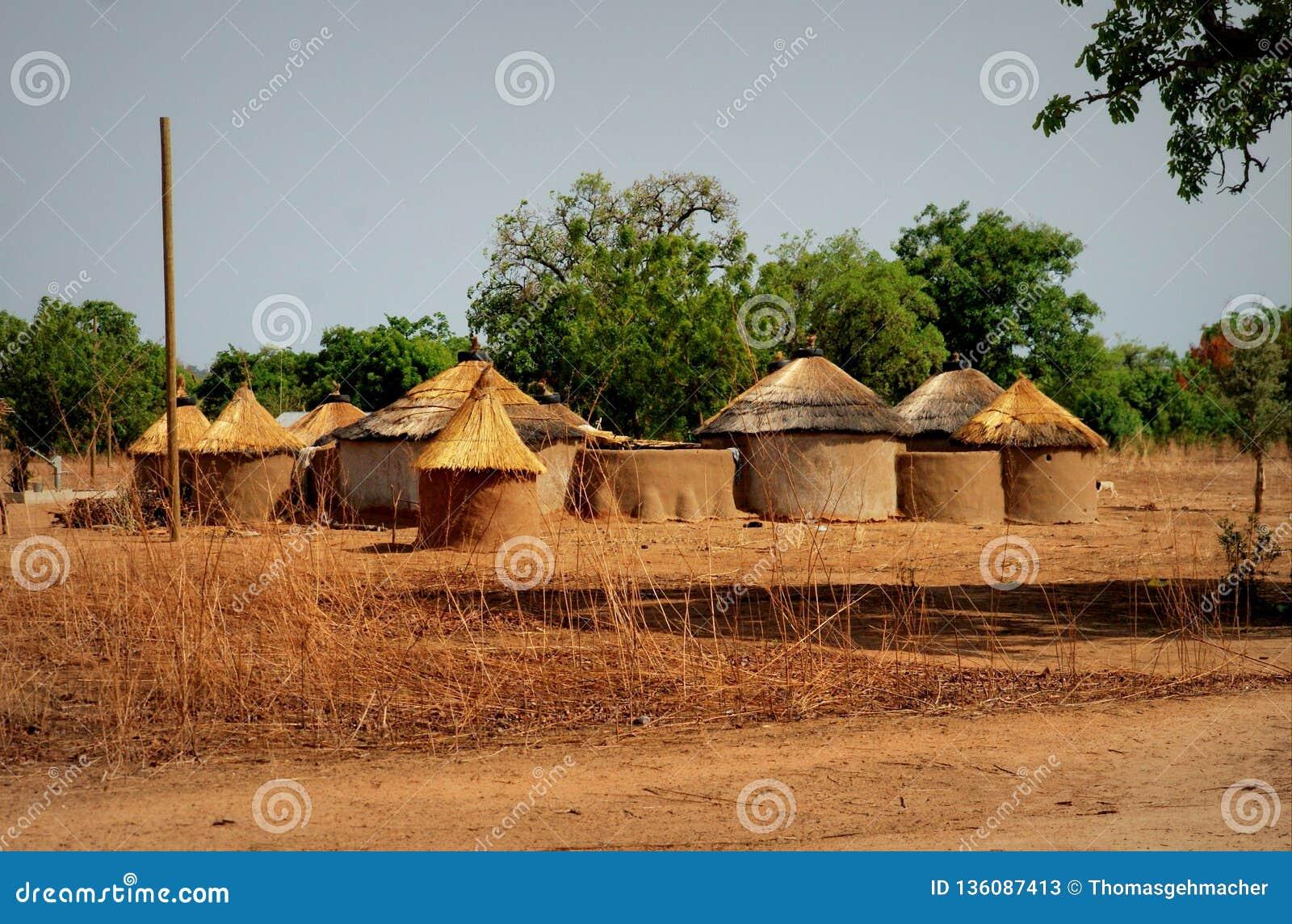 Traditioneel huis in noordelijk Ghana