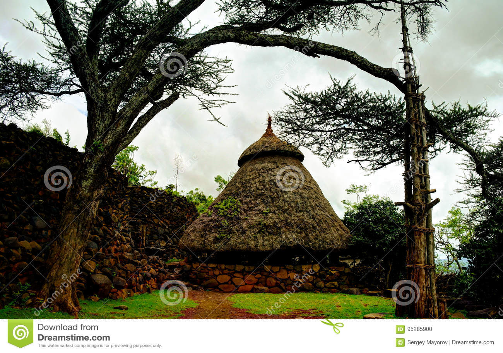 Traditioneel Konso-stamdorp, Karat Konso, Ethiopië
