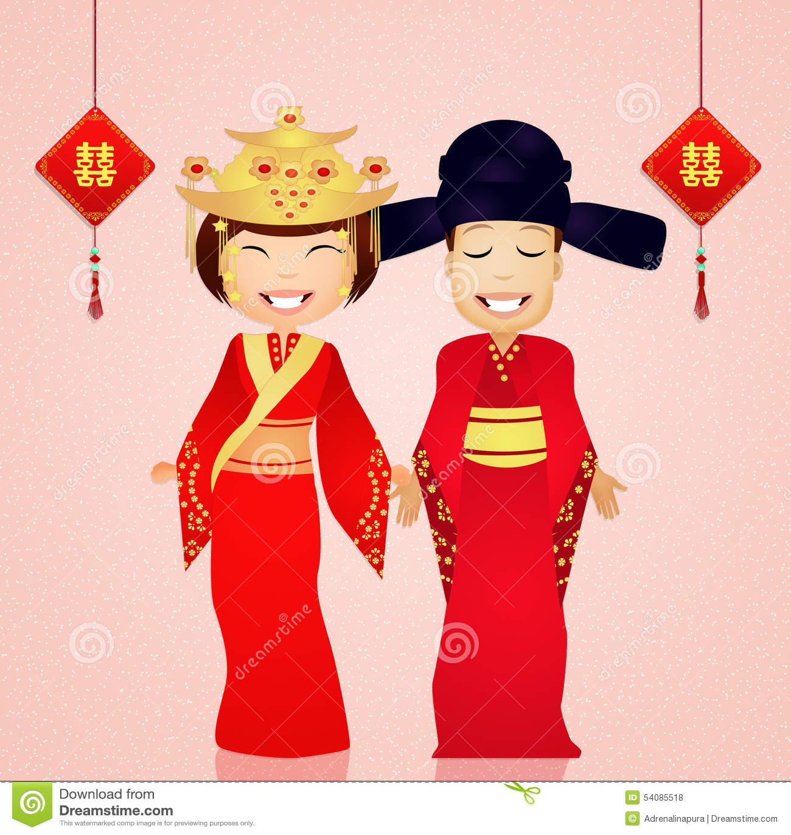 Traditioneel kostuum Chinees huwelijk