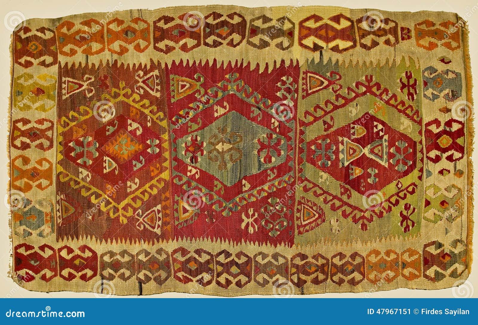 Traditioneel met de hand gemaakt Turks Tapijt