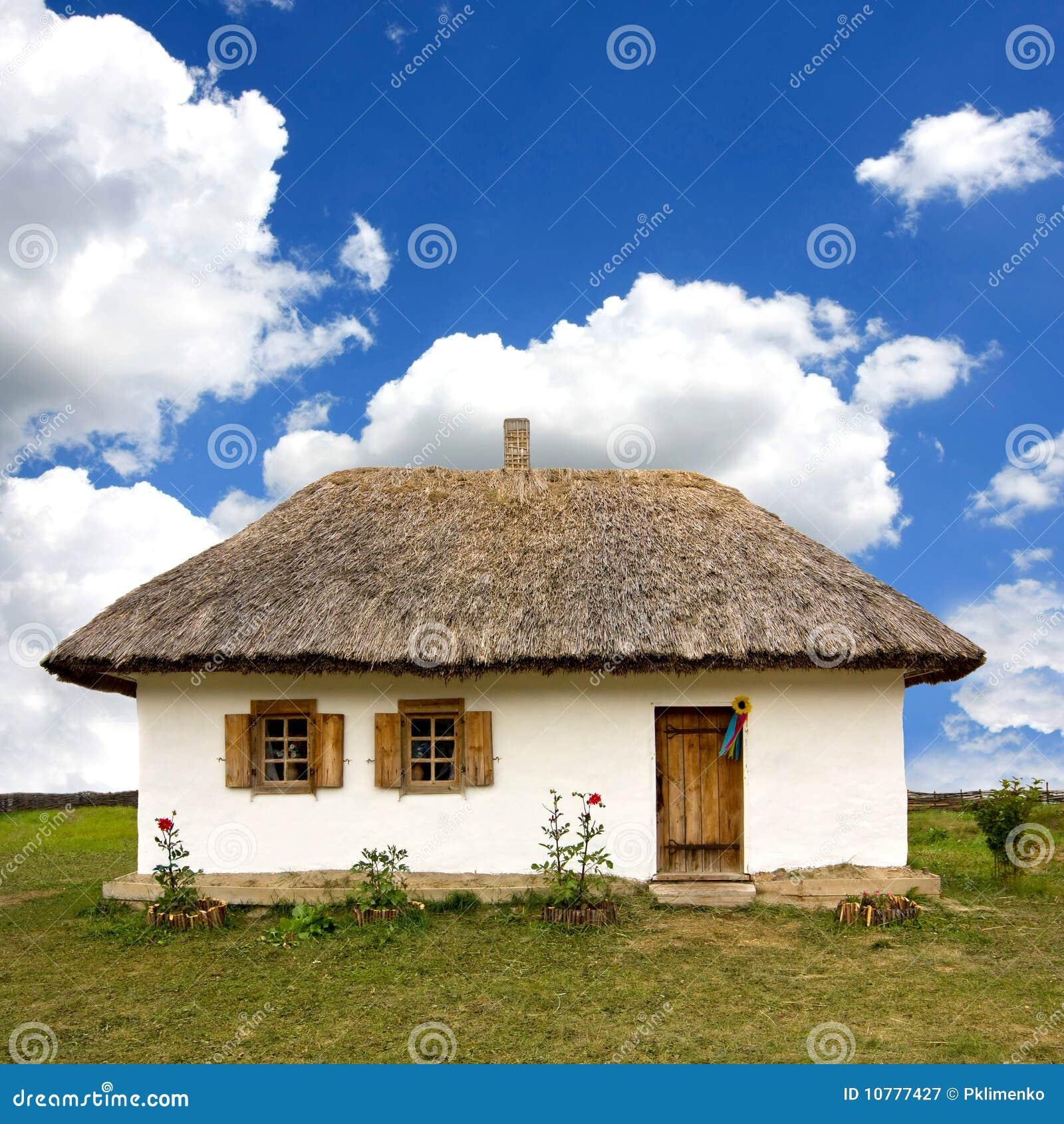 Traditioneel Oekraïens landelijk huis