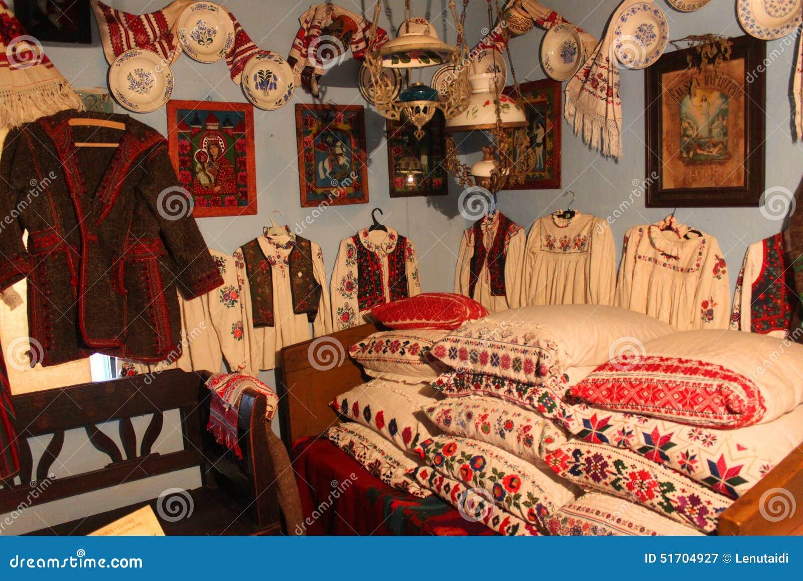 Traditioneel Roemeens huisbinnenland